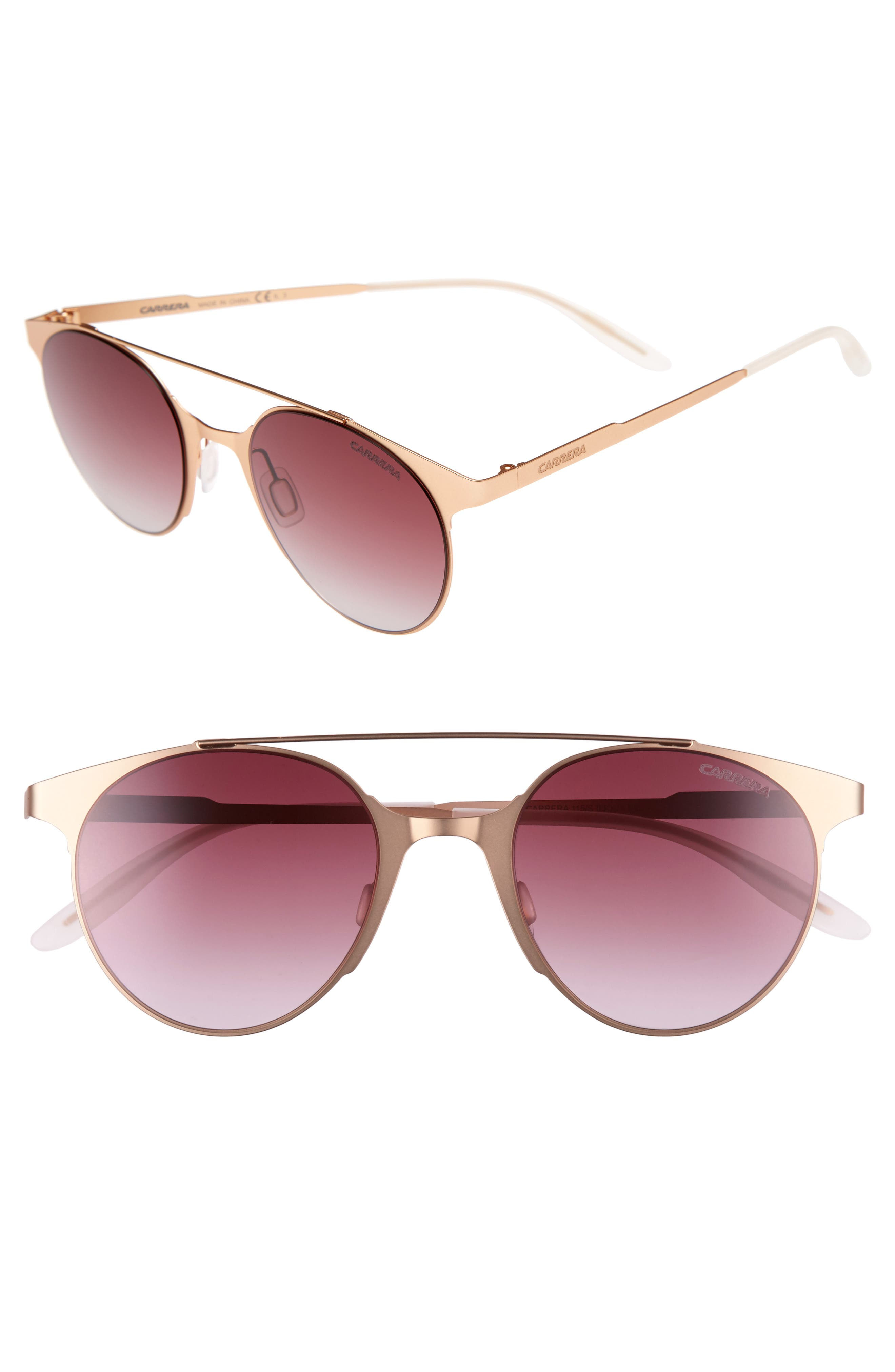 Alternate Image 1 Selected - Carrera Eyewear 50mm Gradient Round Sunglasses