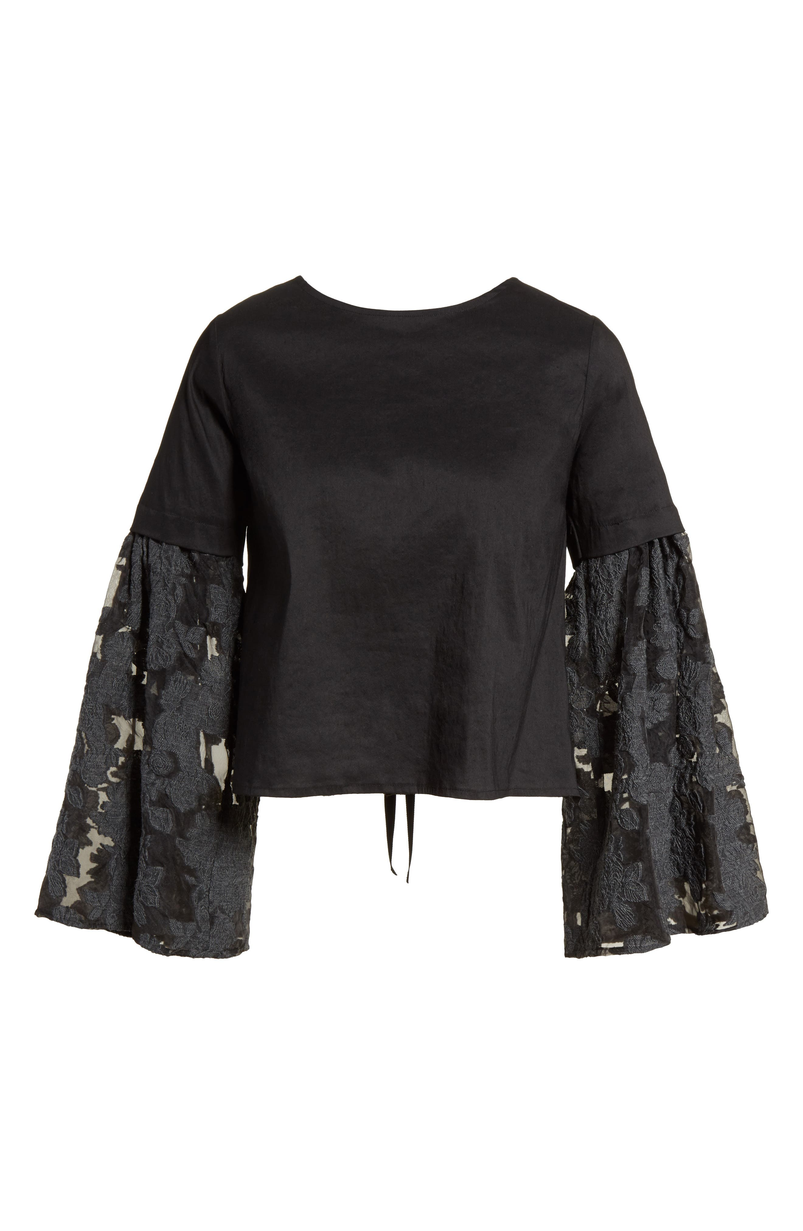Alternate Image 6  - Sea Lace Lace-Up Back Bell Sleeve Blouse