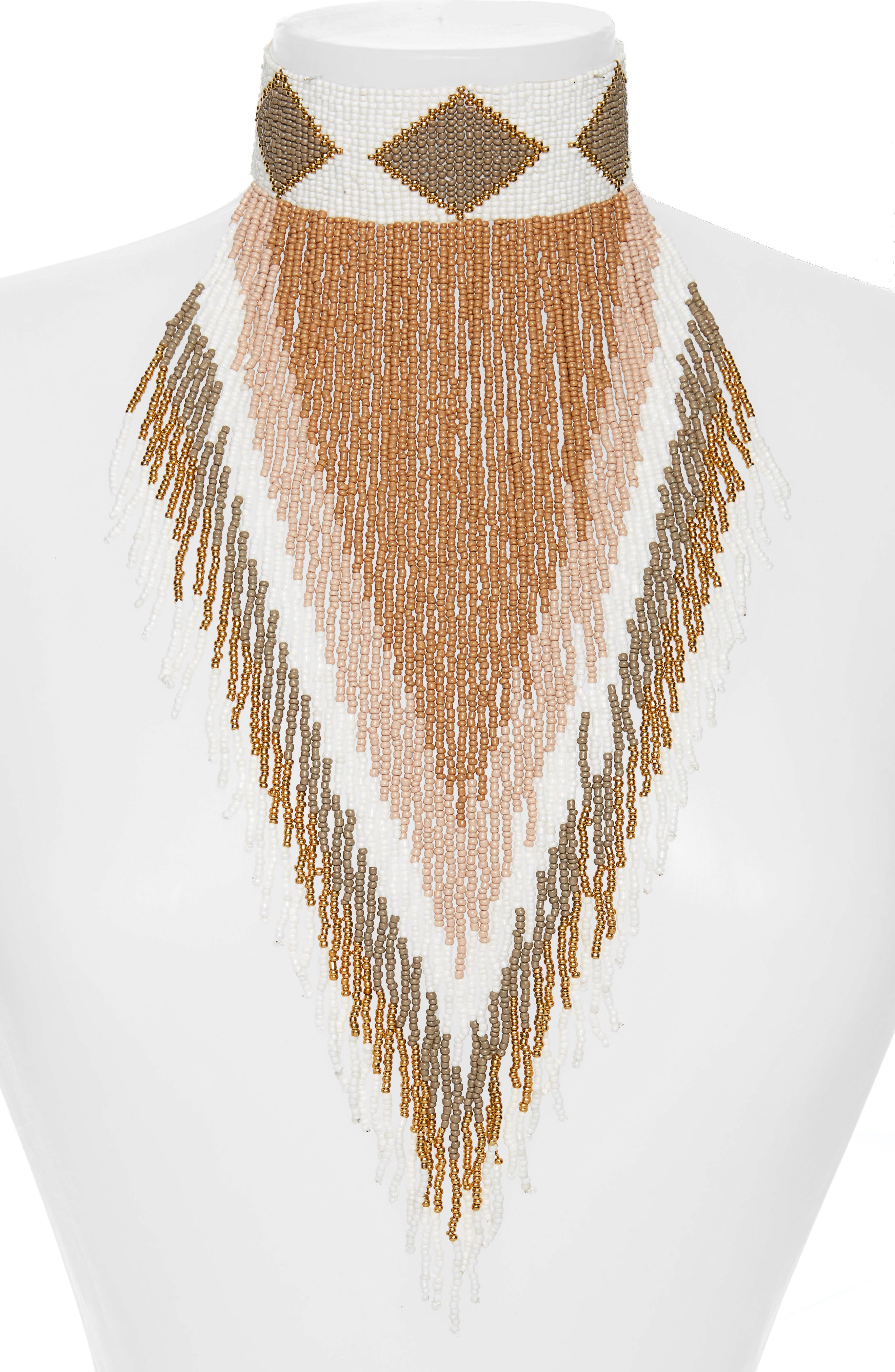 Panacea Fringe Statement Necklace