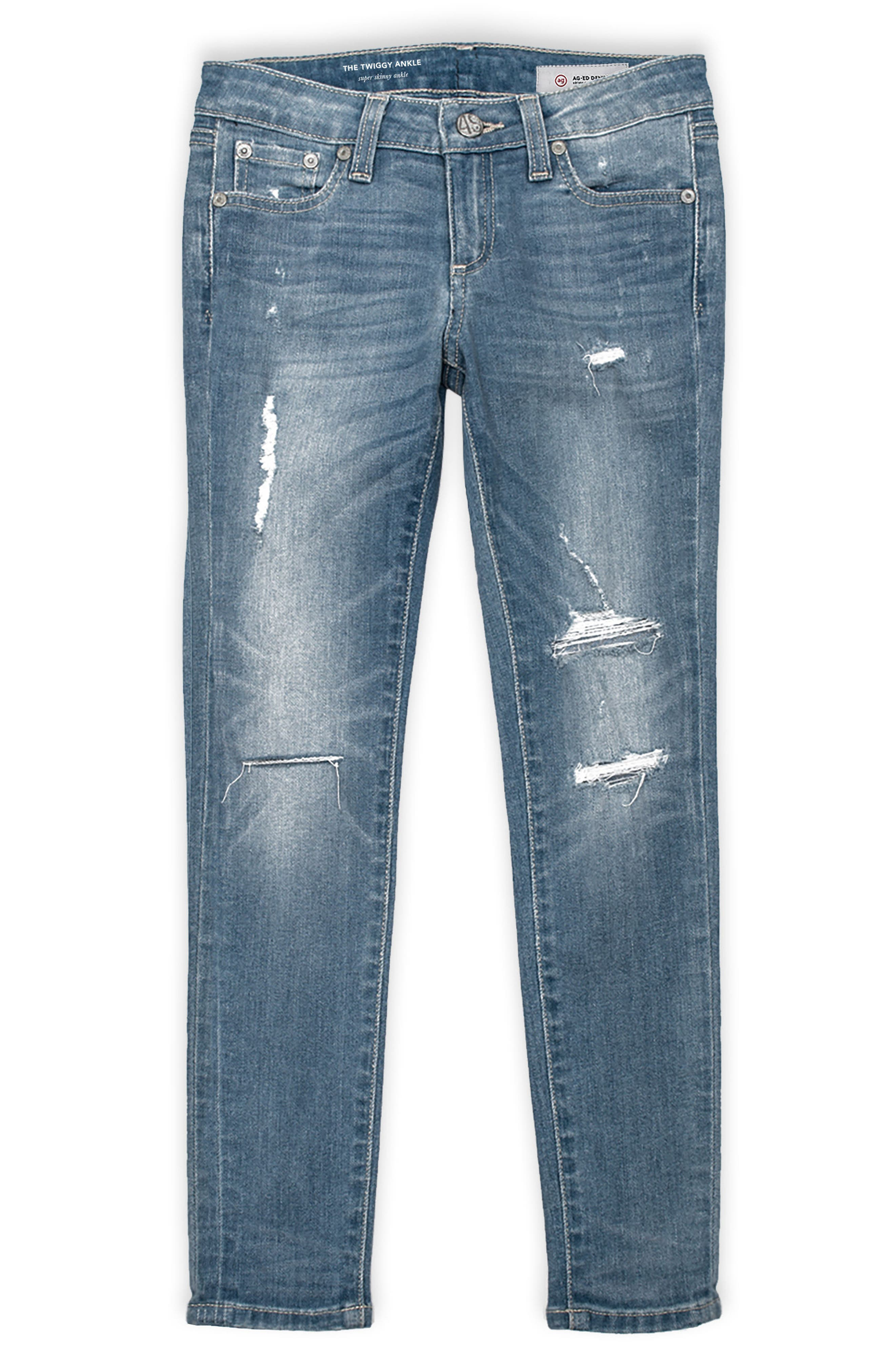 Alternate Image 1 Selected - ag adriano goldschmied kids Twiggy Skinny Ankle Jeans (Big Girls)