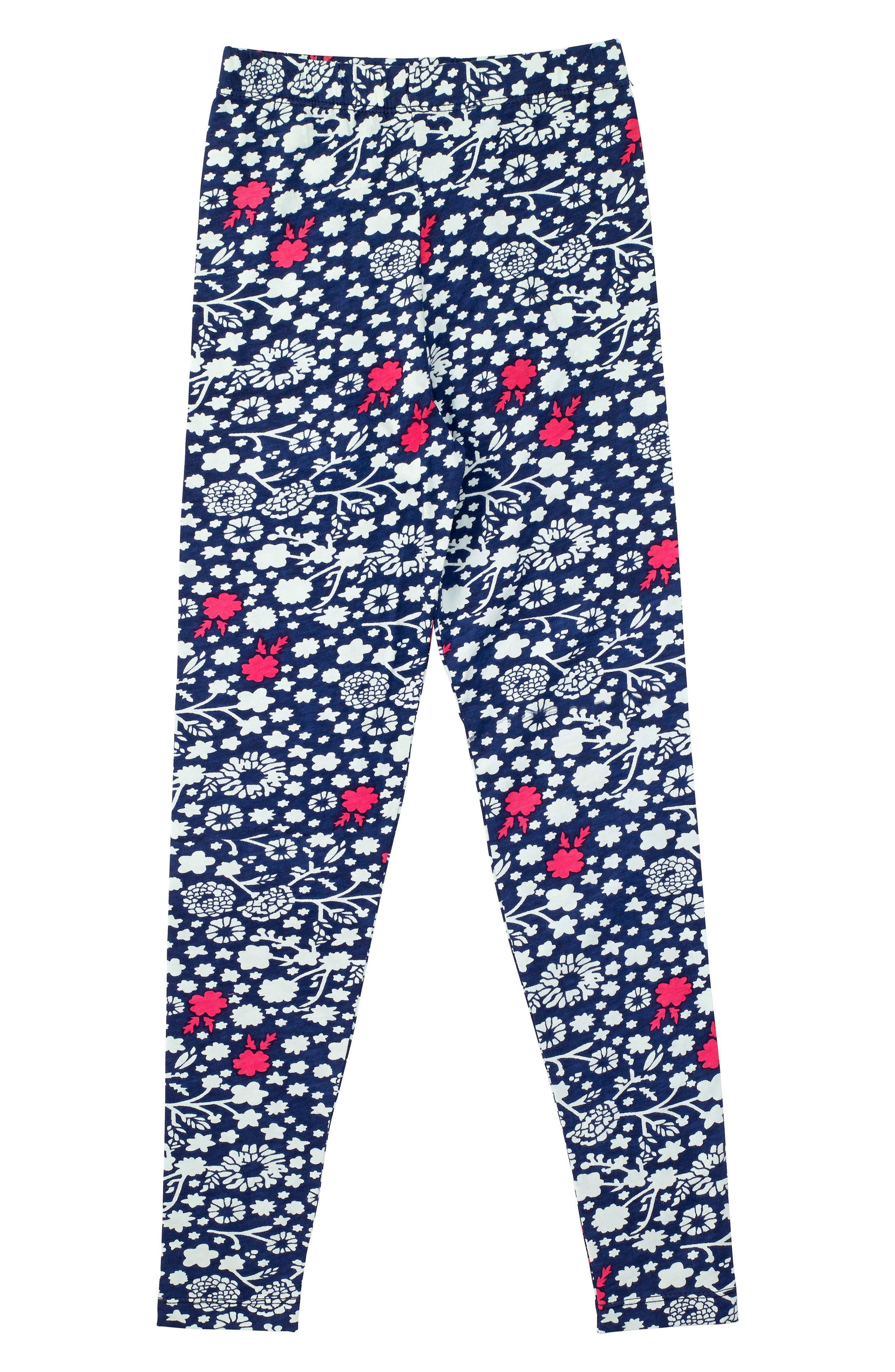 Bloom Organic Cotton Leggings,                             Main thumbnail 1, color,                             Navy