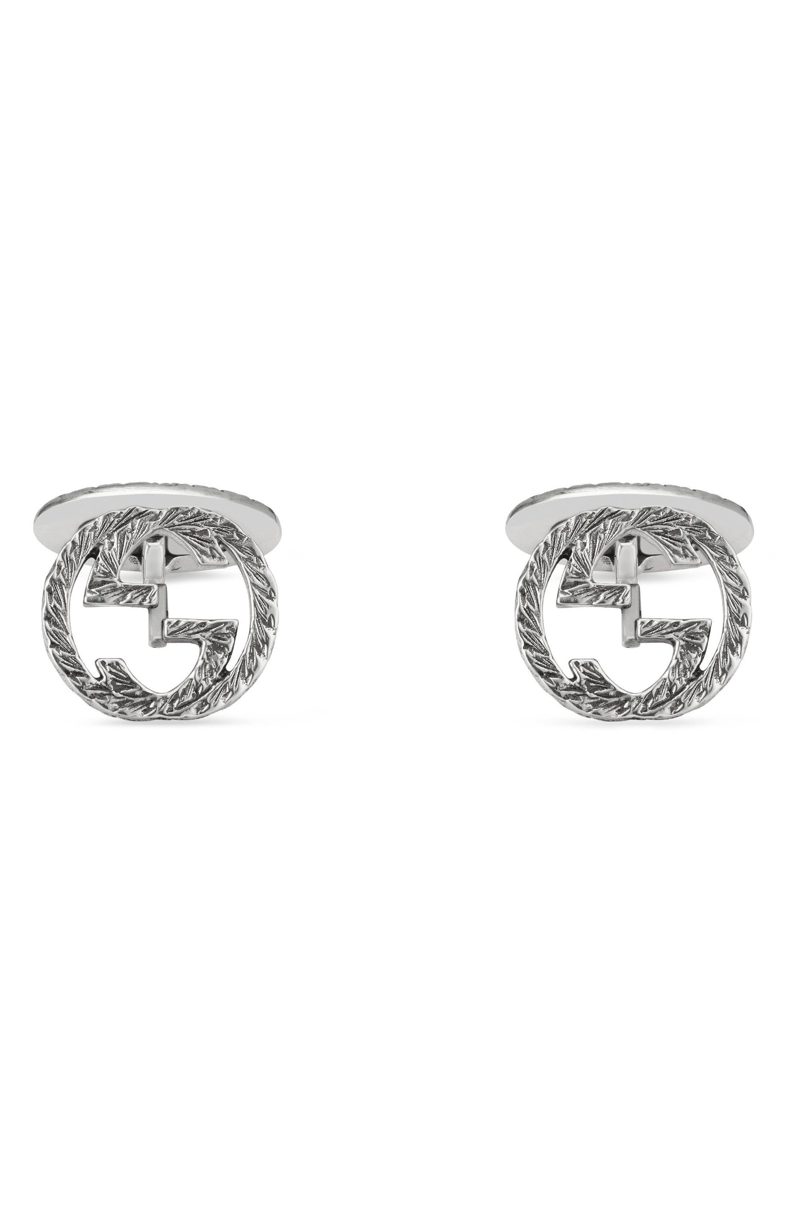Alternate Image 1 Selected - Gucci Interlocking G Cuff Links