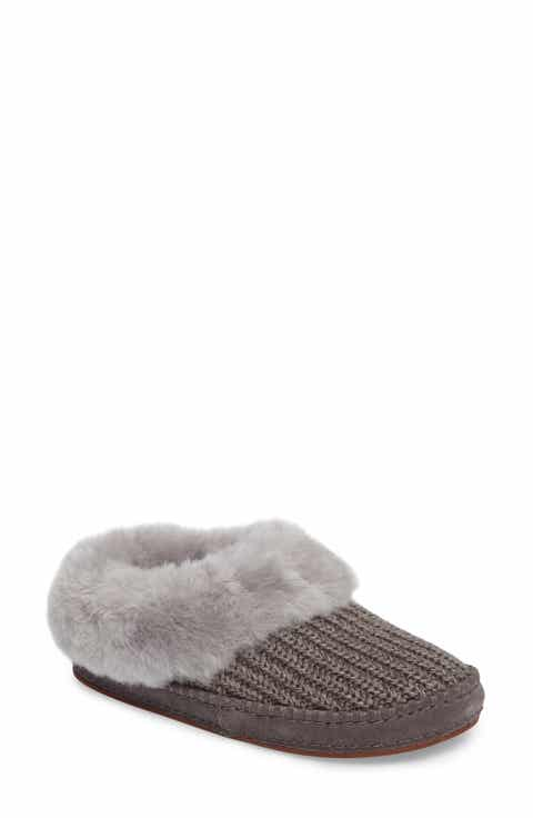 ugg bedroom slippers. UGG  Wrin Rib Knit Genuine Shearling Slipper Women Slippers for Nordstrom