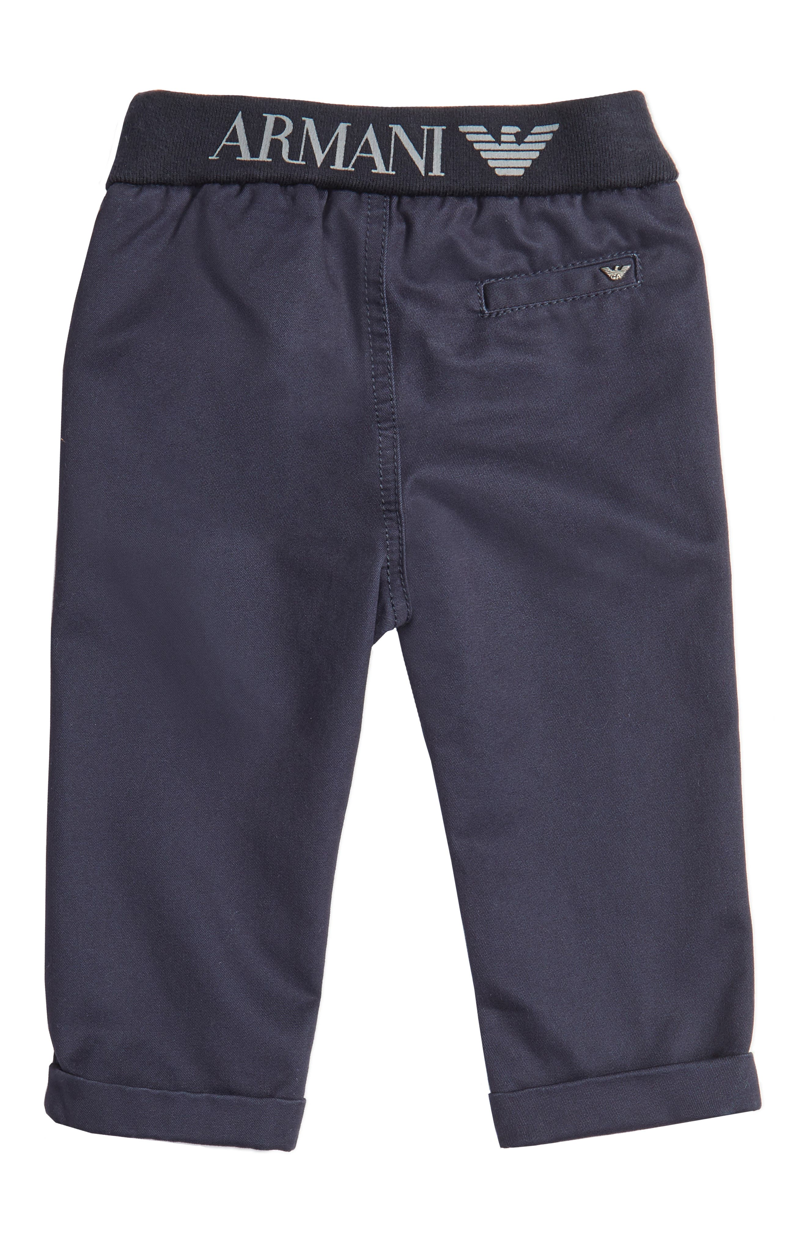 Cotton Twill Pants,                             Alternate thumbnail 2, color,                             Navy