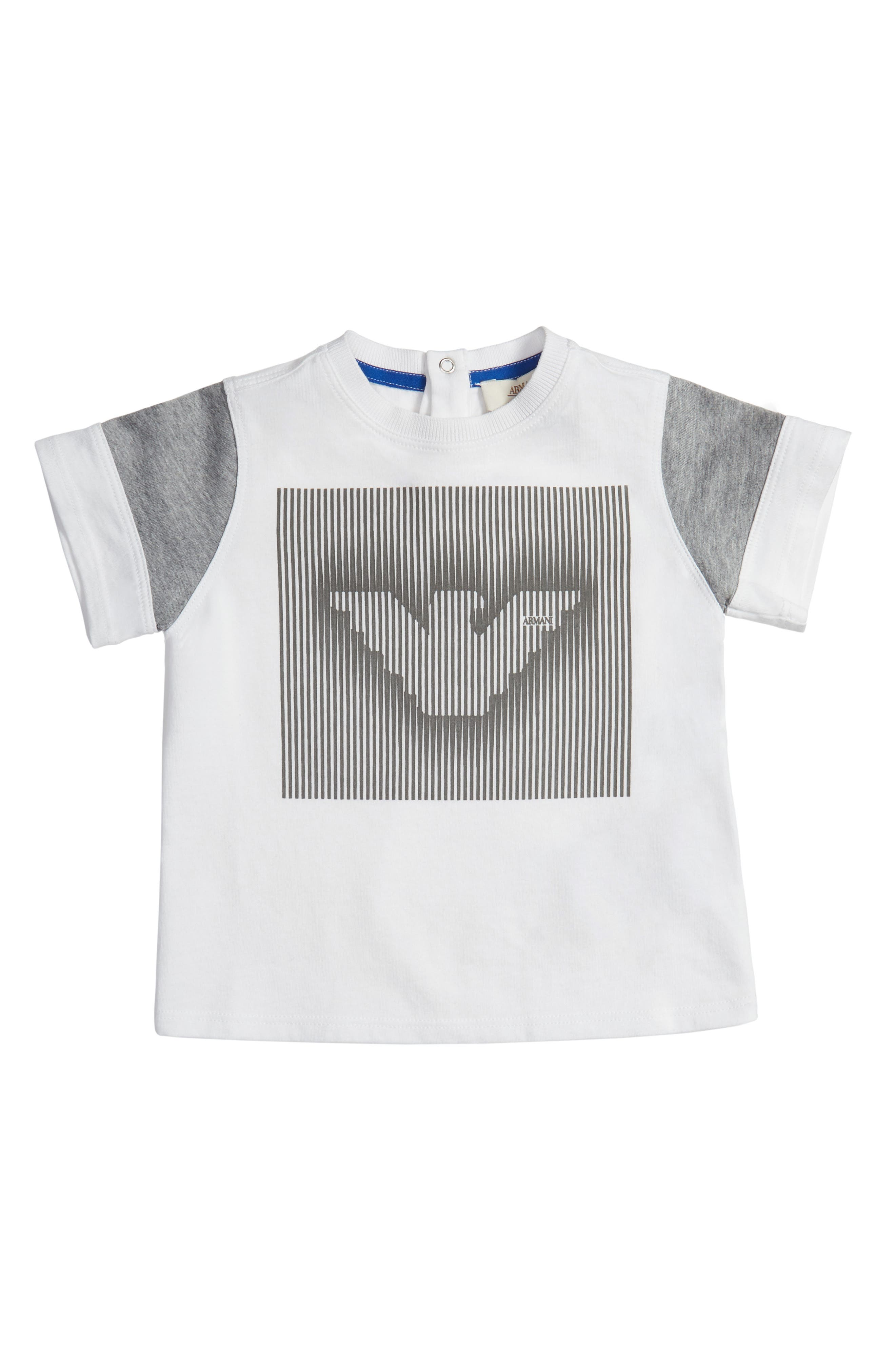 Alternate Image 1 Selected - Armani Junior Logo Graphic T-Shirt (Baby Boys)