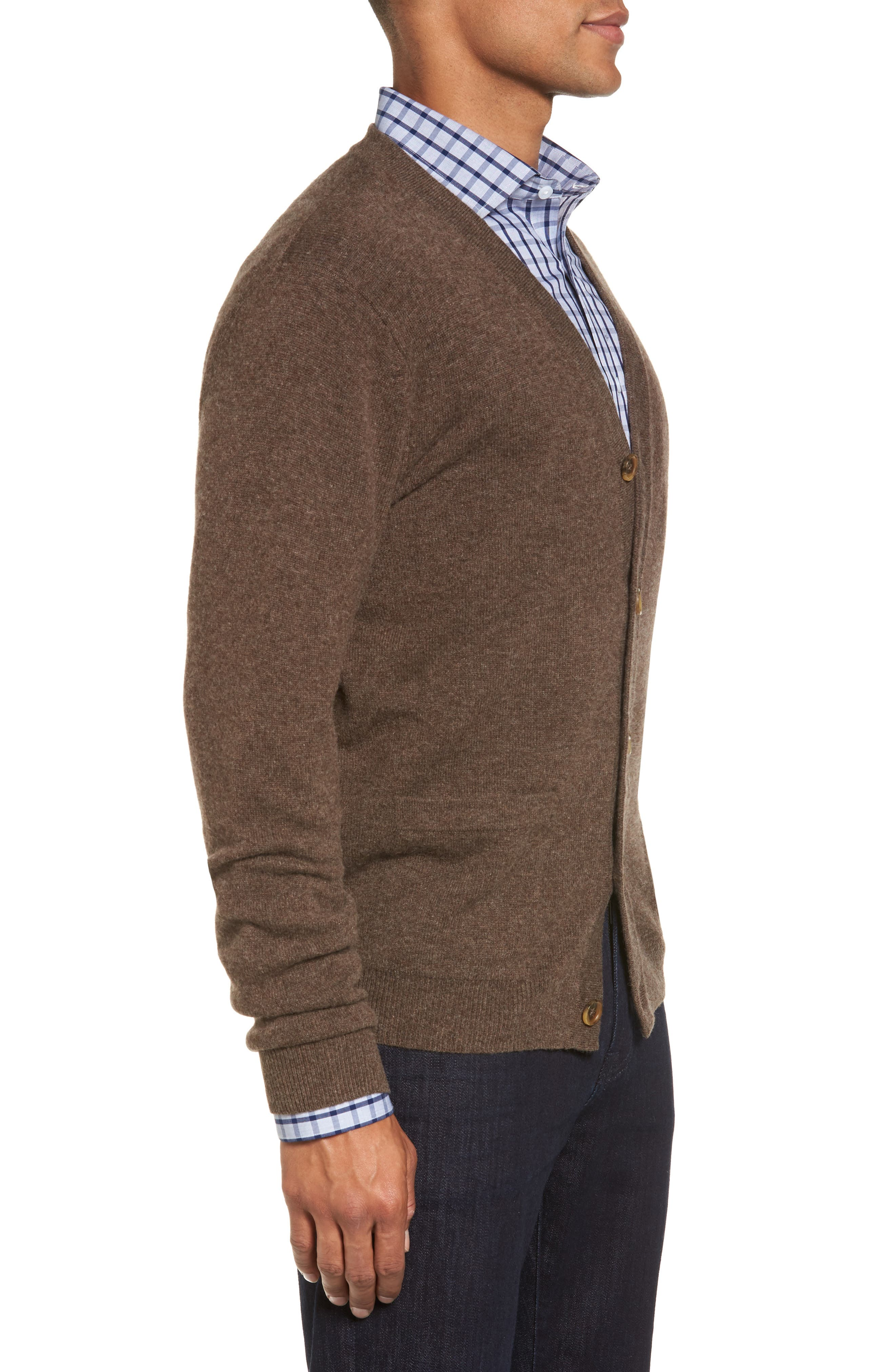 Alternate Image 3  - Nordstrom Men's Shop Cashmere Button Front Cardigan