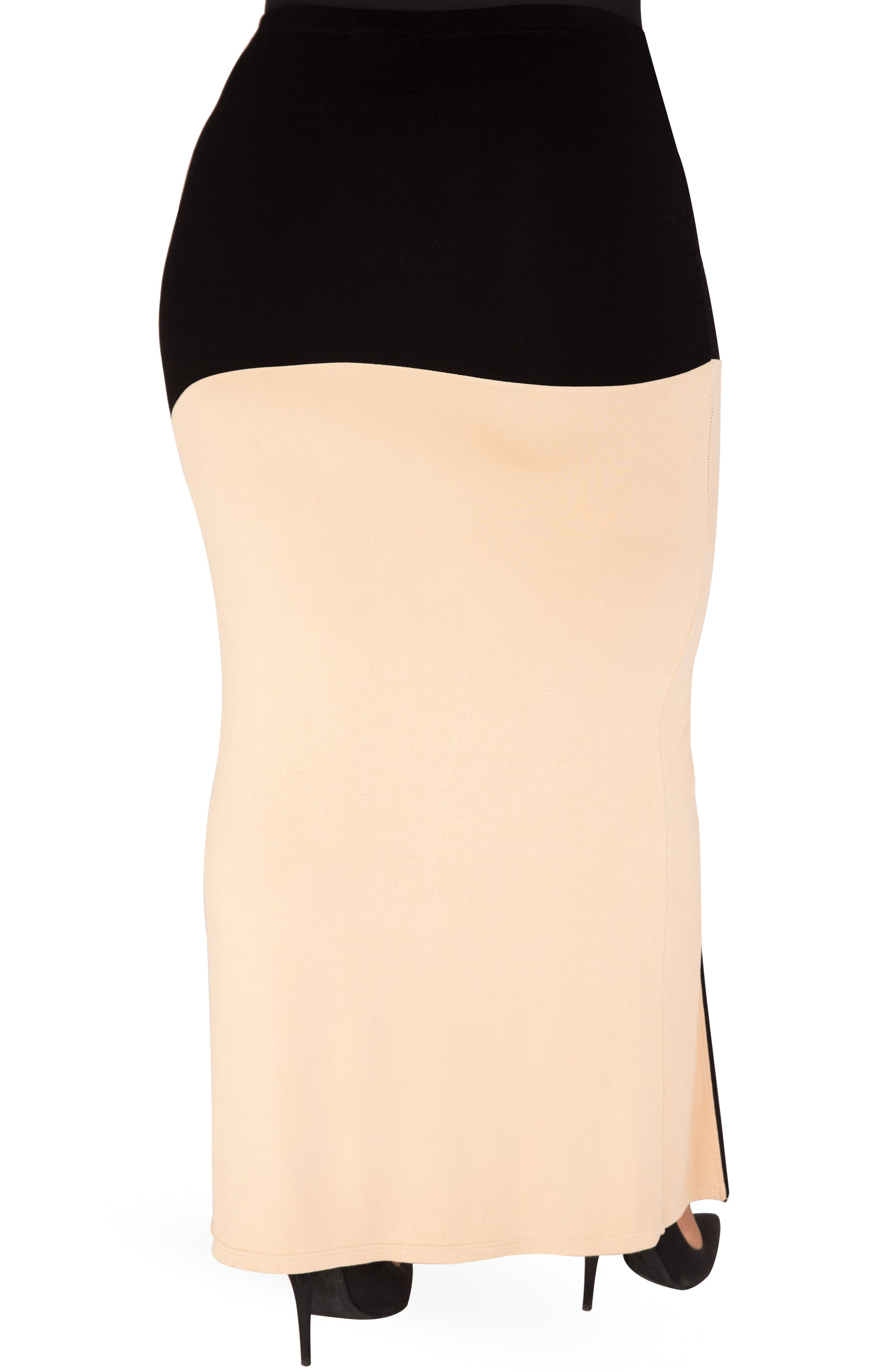 Alternate Image 3  - Poetic Justice Kandi Zip Slit Maxi Skirt (Plus Size)