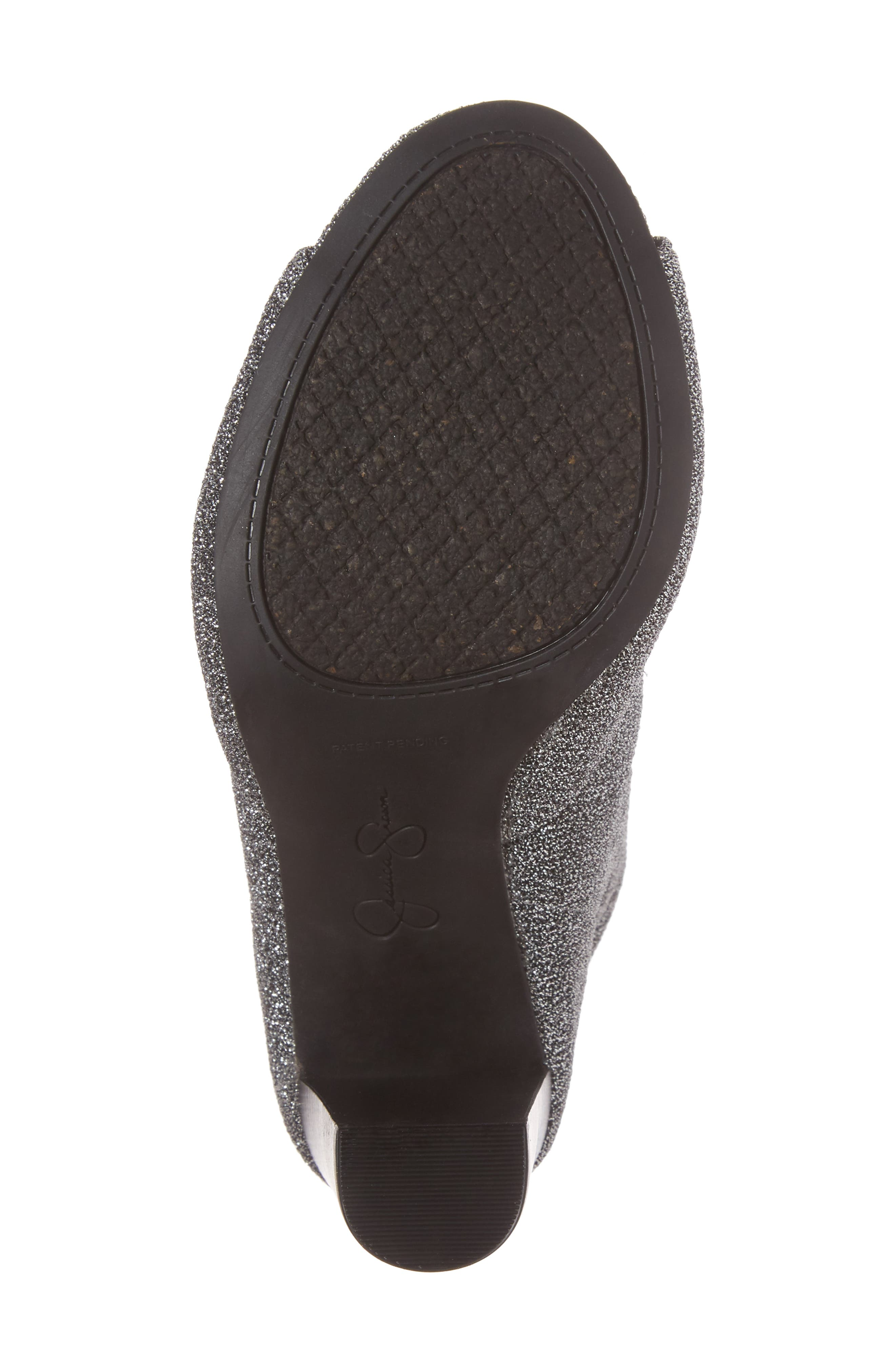 Elara Open-Toe Bootie,                             Alternate thumbnail 6, color,                             Gunmetal