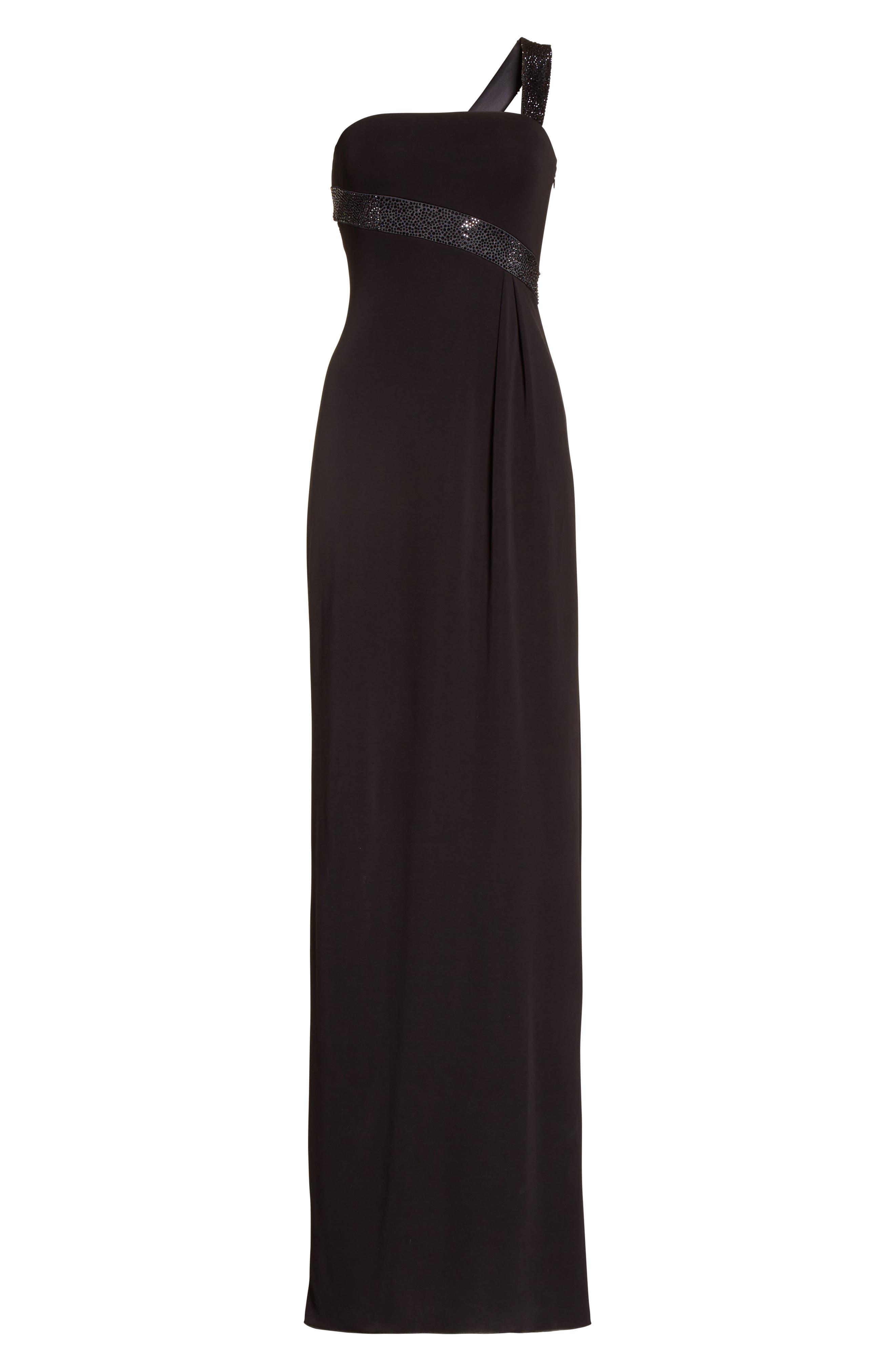 Alternate Image 6  - Armani Collezioni Crystal Trim Matte Jersey Gown