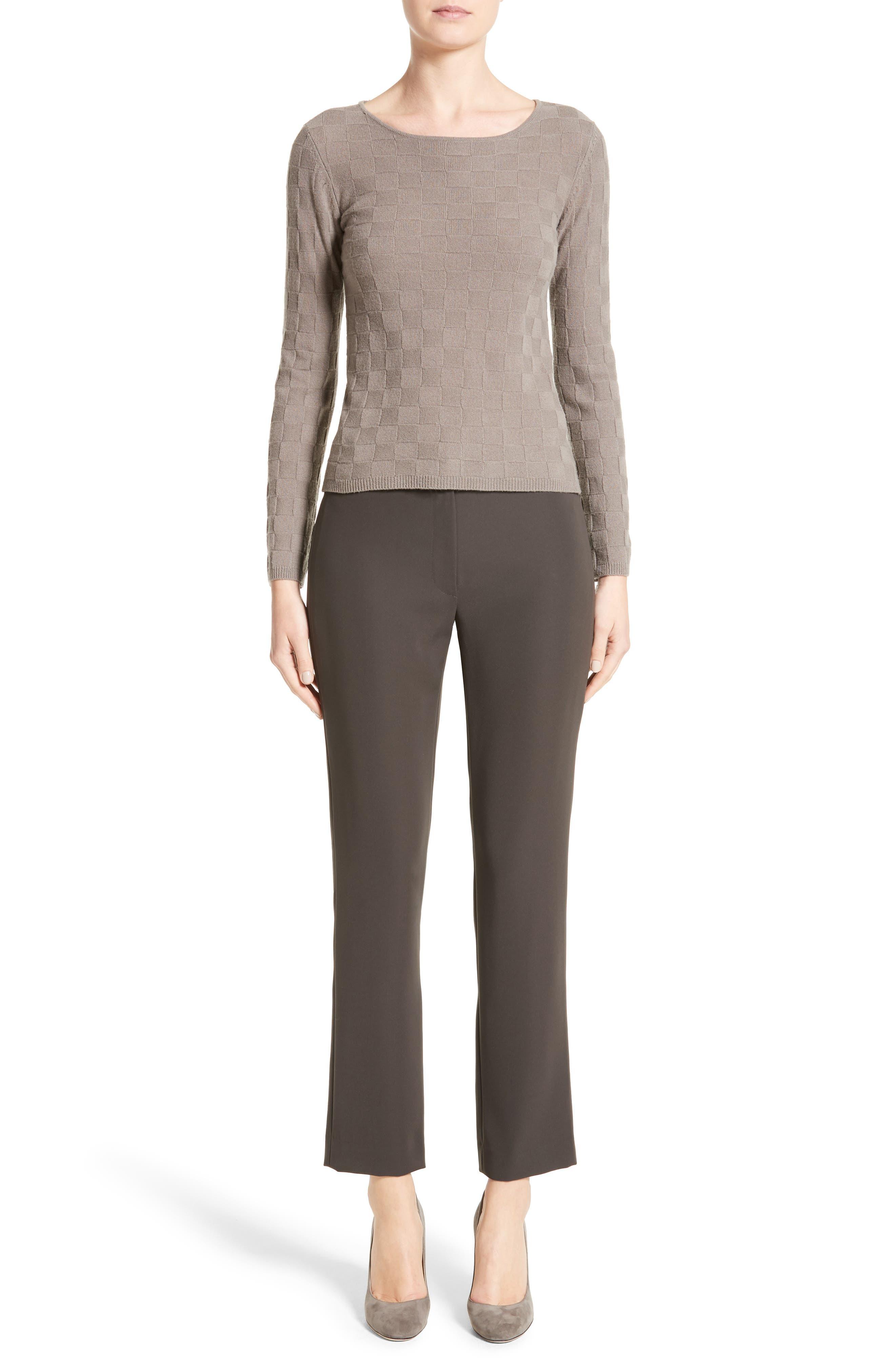 Alternate Image 7  - Armani Collezioni Checkerboard Cashmere Sweater