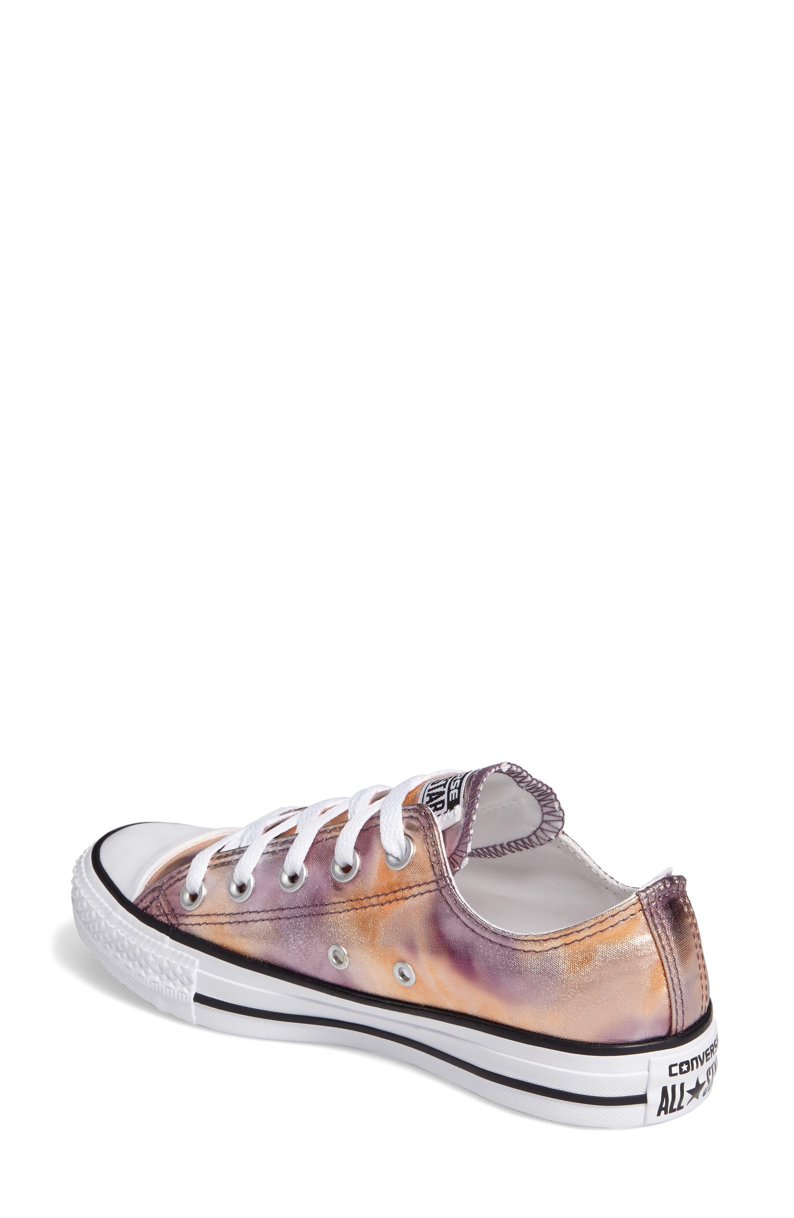 Chuck Taylor<sup>®</sup> All Star<sup>®</sup> Seasonal Metallic Ox Low Top Sneaker,                             Alternate thumbnail 2, color,                             Dusk Pink