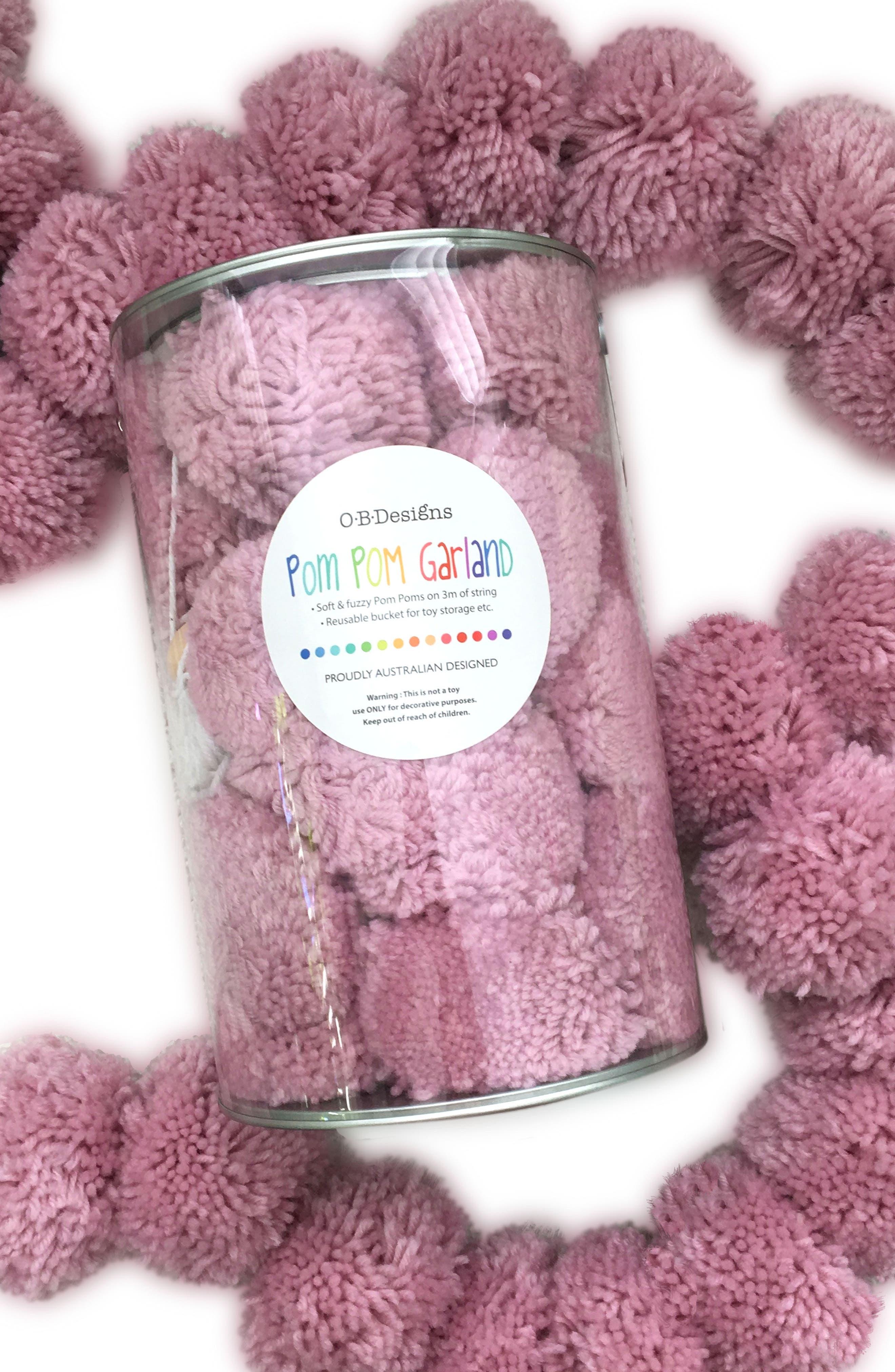 Pom Pom Bunting,                         Main,                         color, Pink