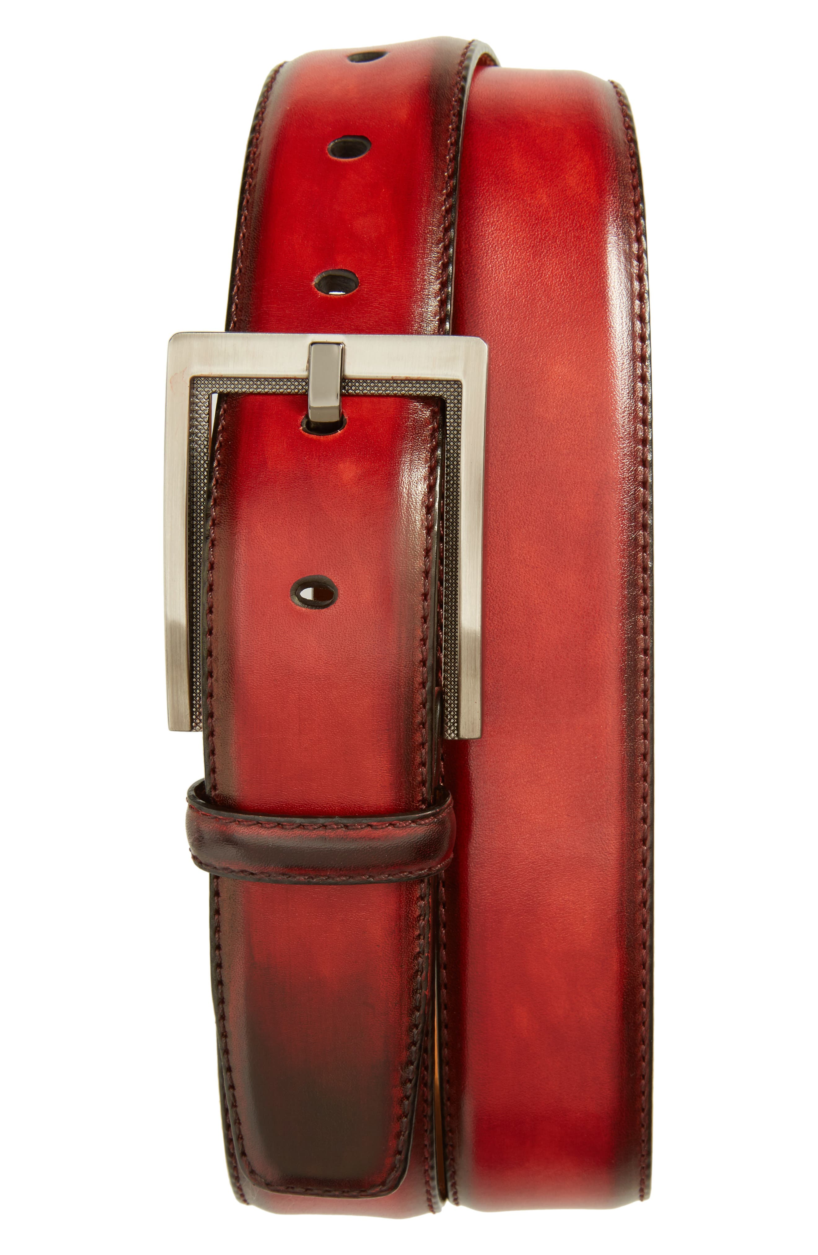 Magnanni Burnished Leather Belt