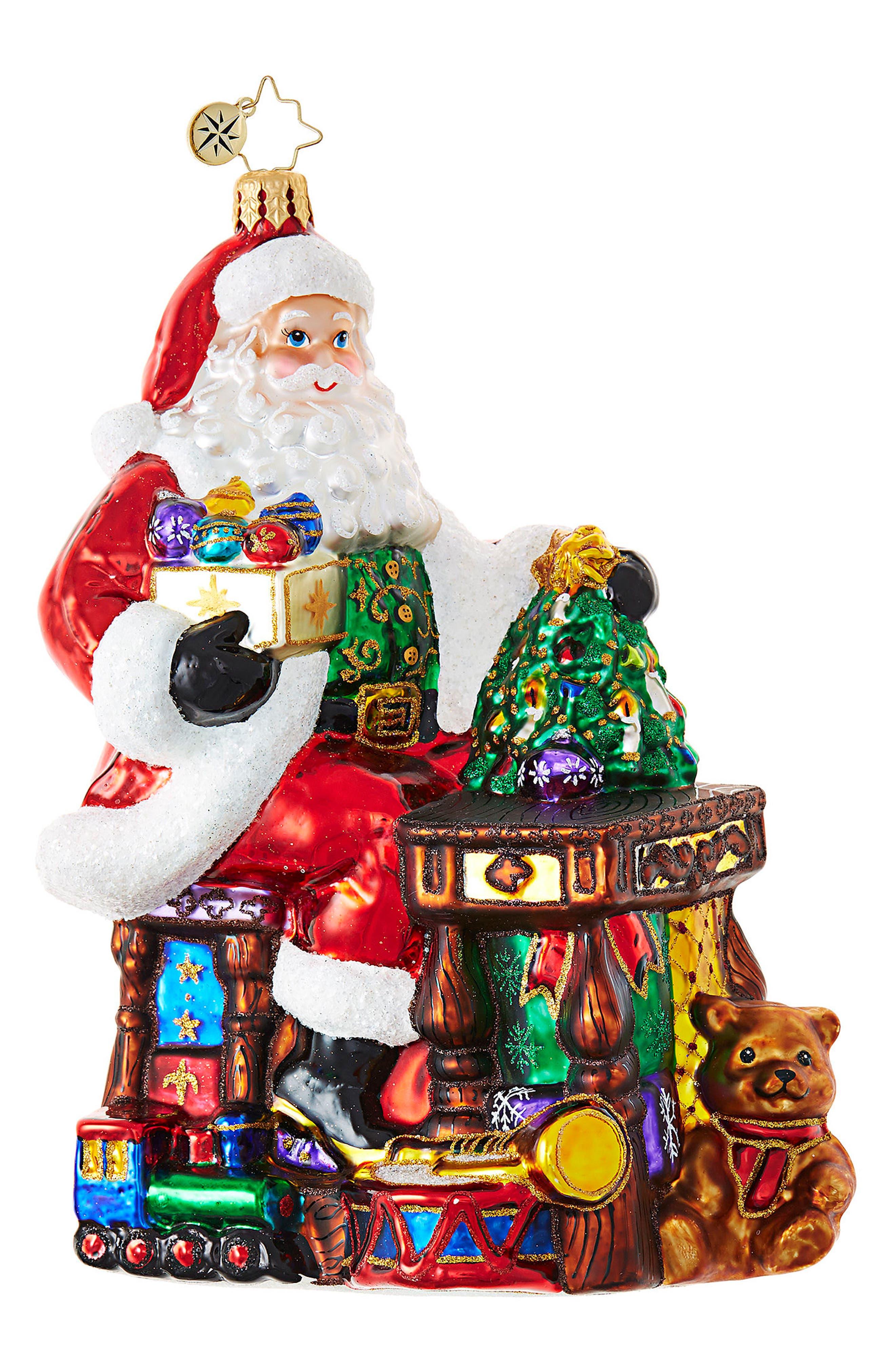 Santa's Toy Shop Ornament,                         Main,                         color, Red/ Multi