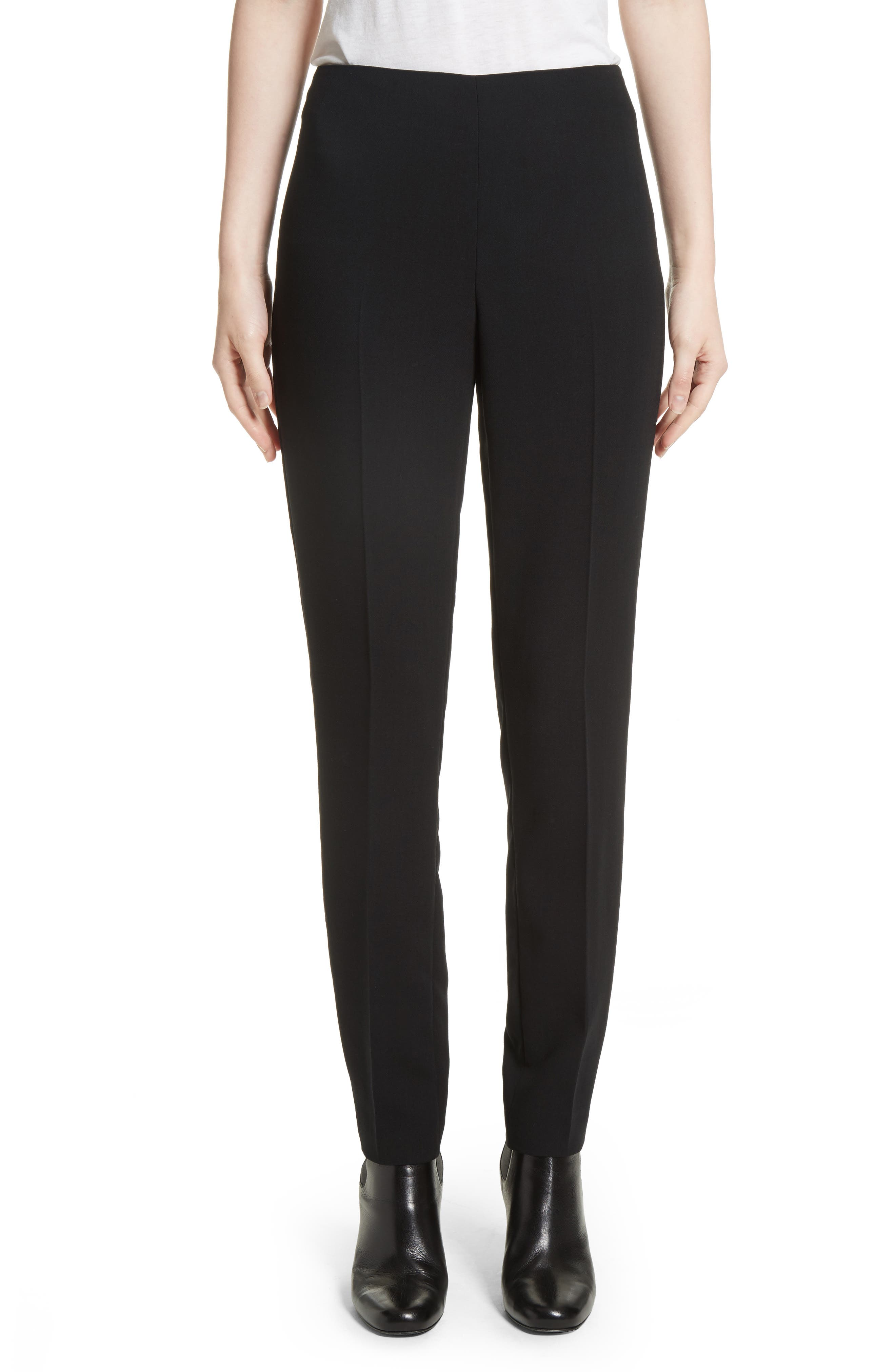 Akris Melvin Double Face Wool Blend Pants In Black
