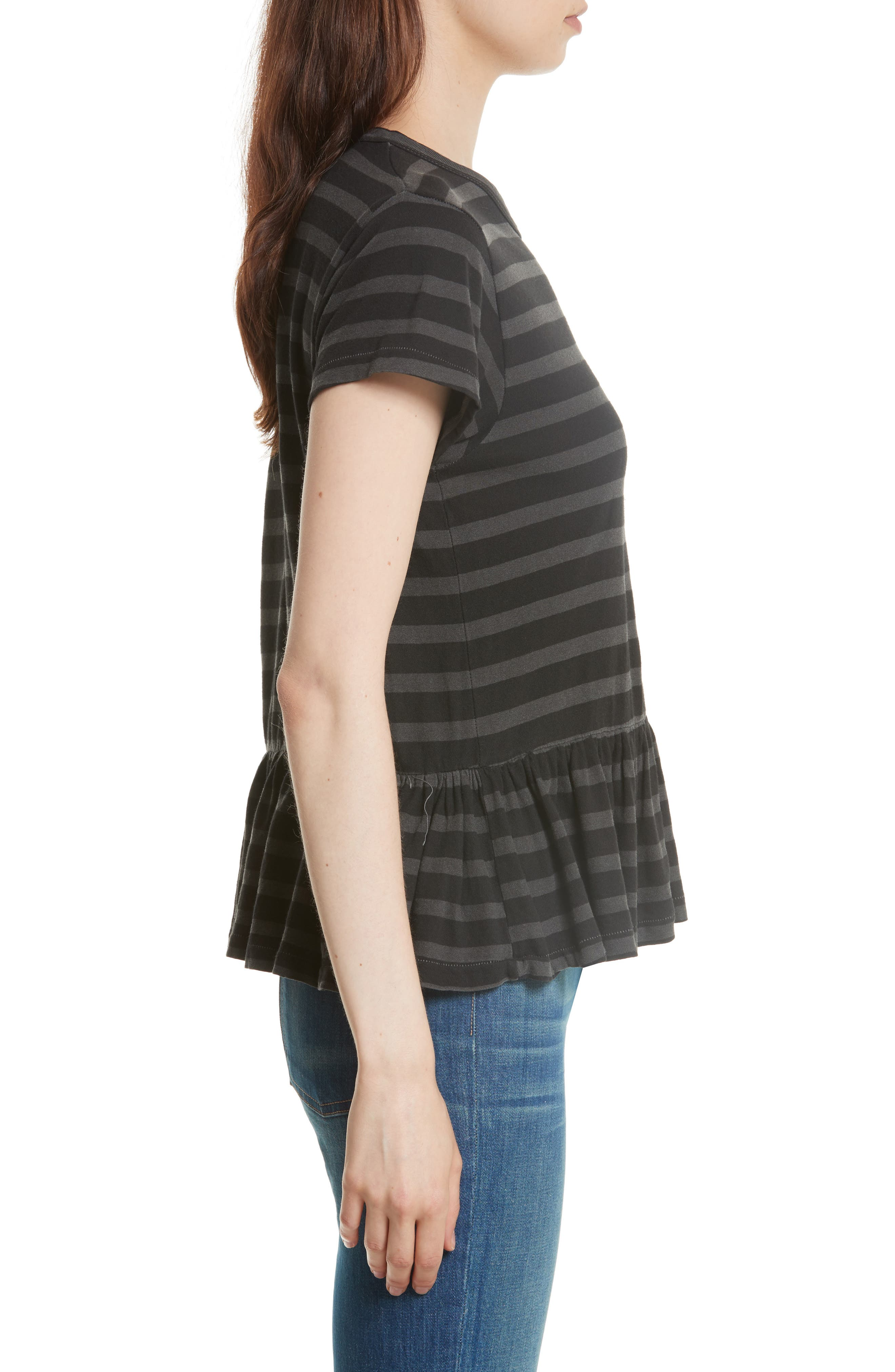 Alternate Image 3  - THE GREAT. The Ruffle Stripe Tee