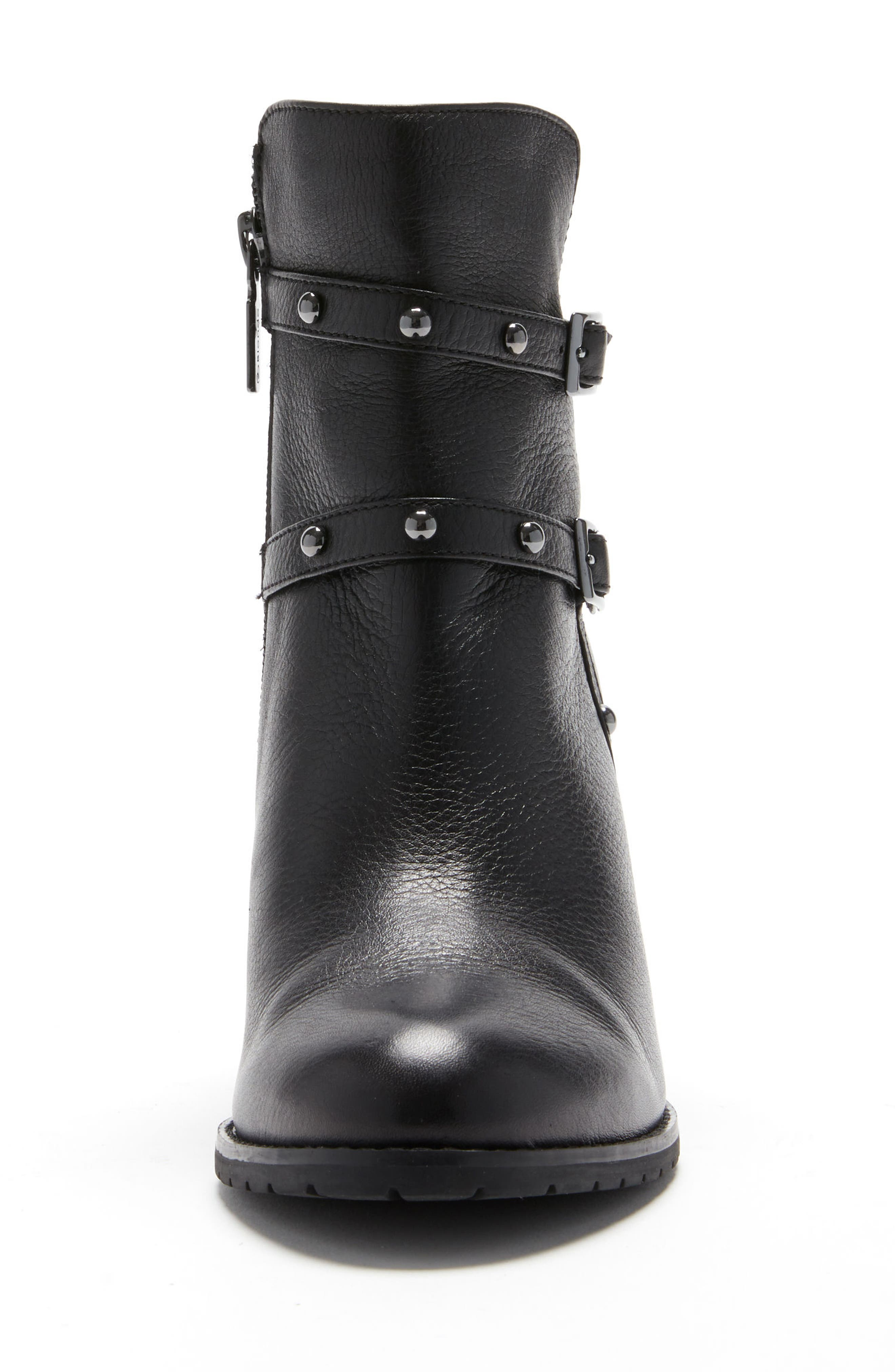 Analise Waterproof Boot,                             Alternate thumbnail 4, color,                             Black Leather