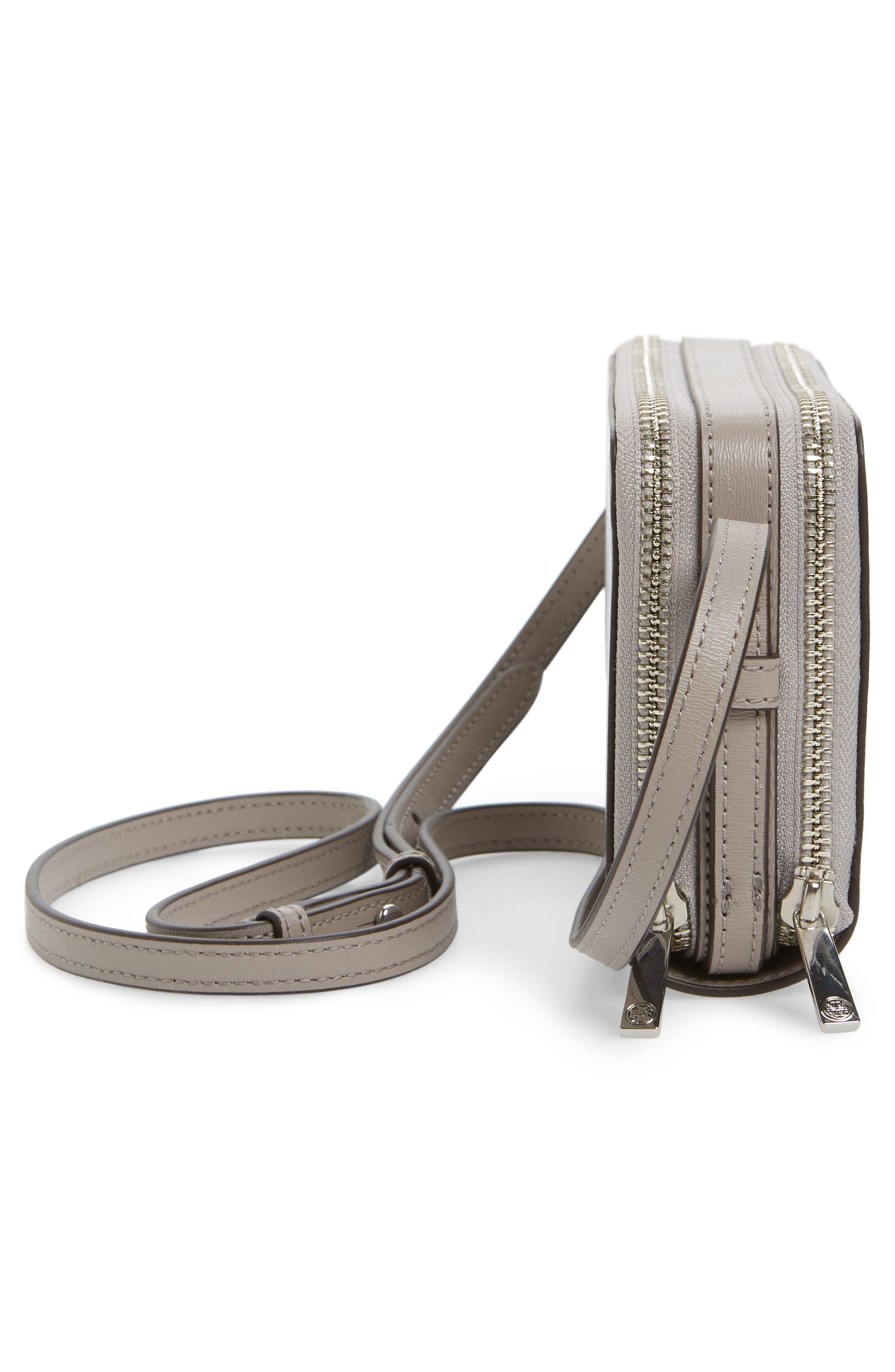 Mini Parker Leather Crossbody Bag,                             Alternate thumbnail 5, color,                             Dust Storm
