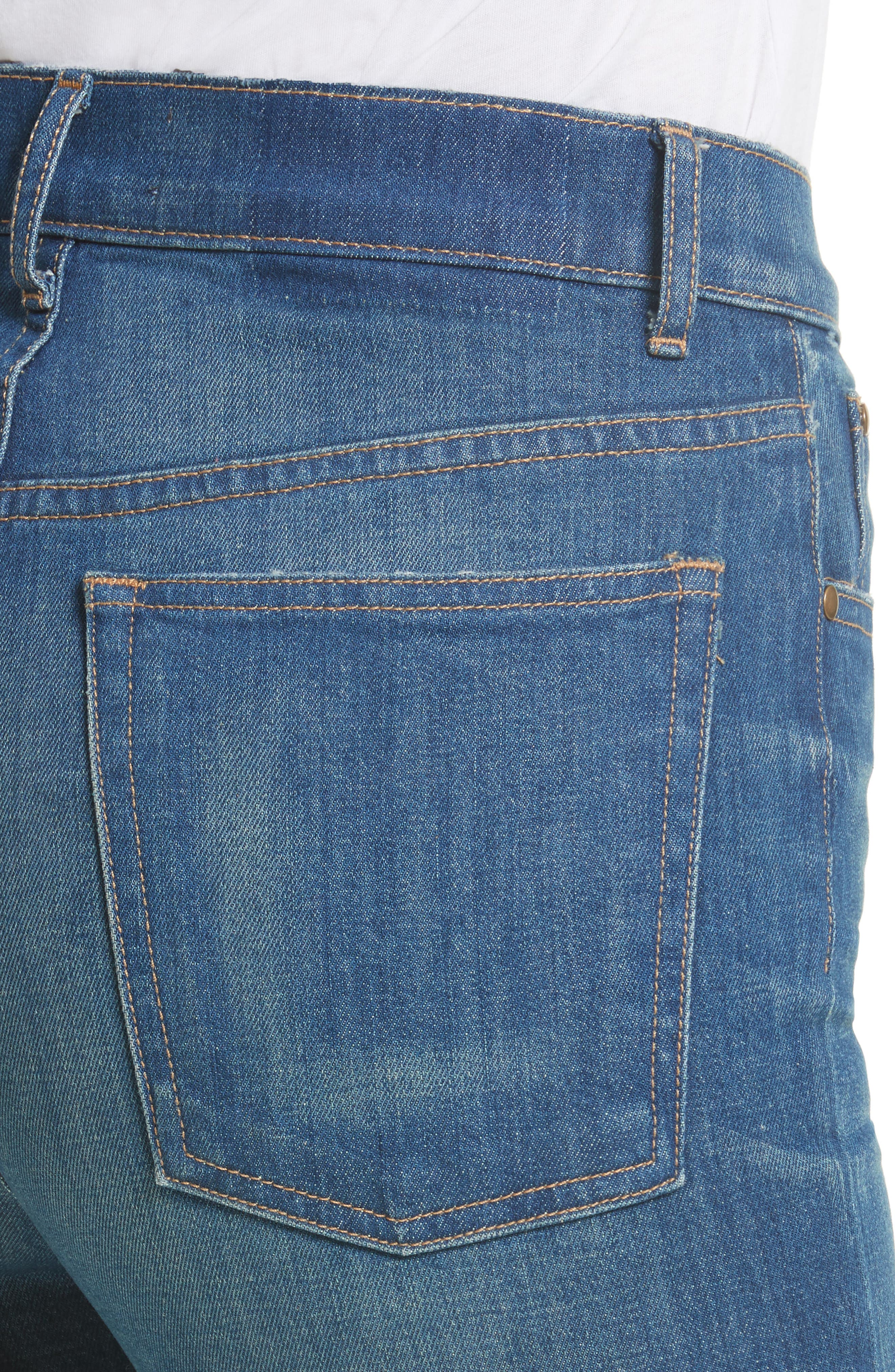 Alternate Image 5  - THE GREAT. The Straight A Jeans (Track Wash)