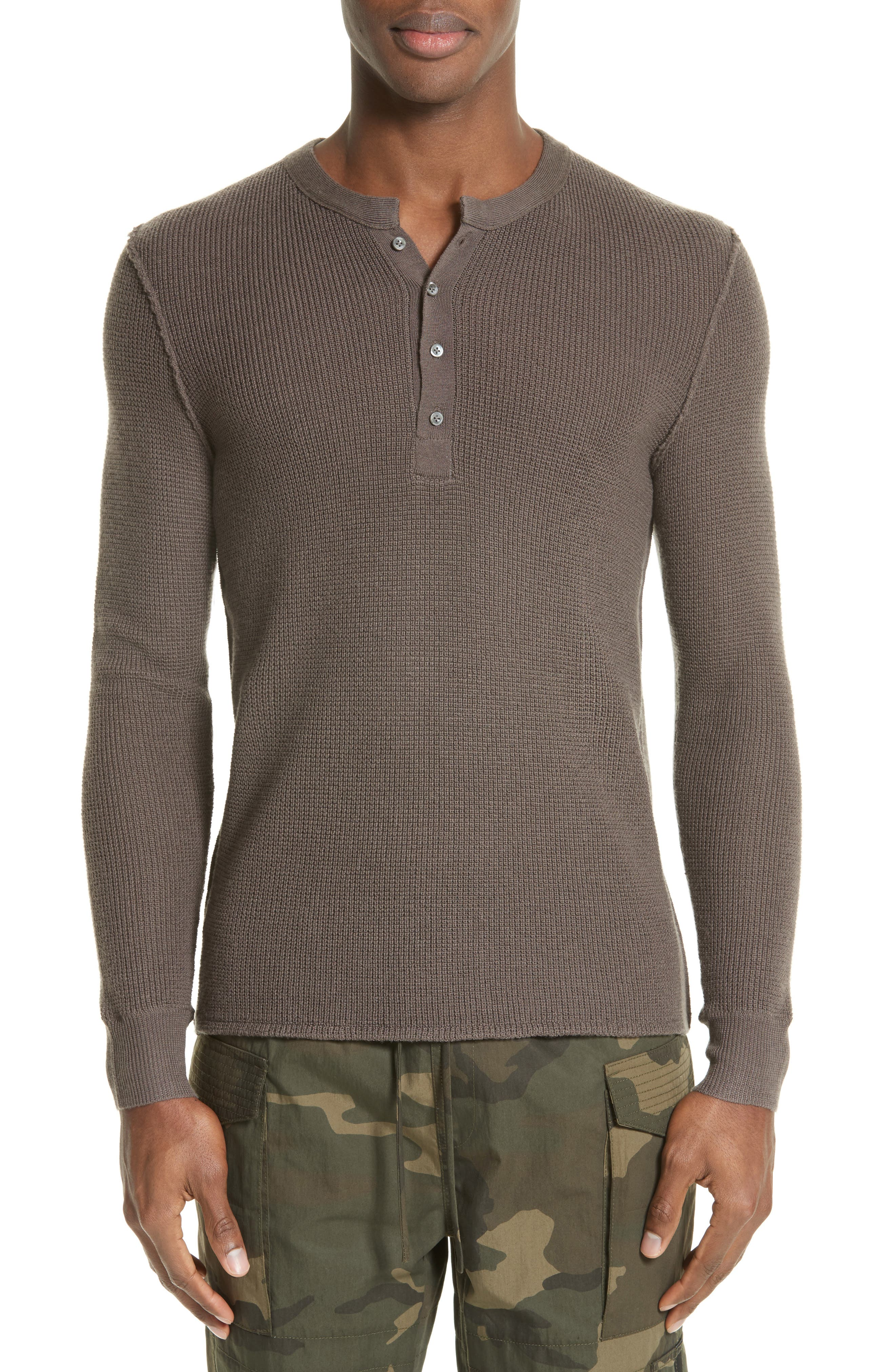 Alternate Image 1 Selected - OVADIA & SONS Zack Waffle Knit Wool Henley