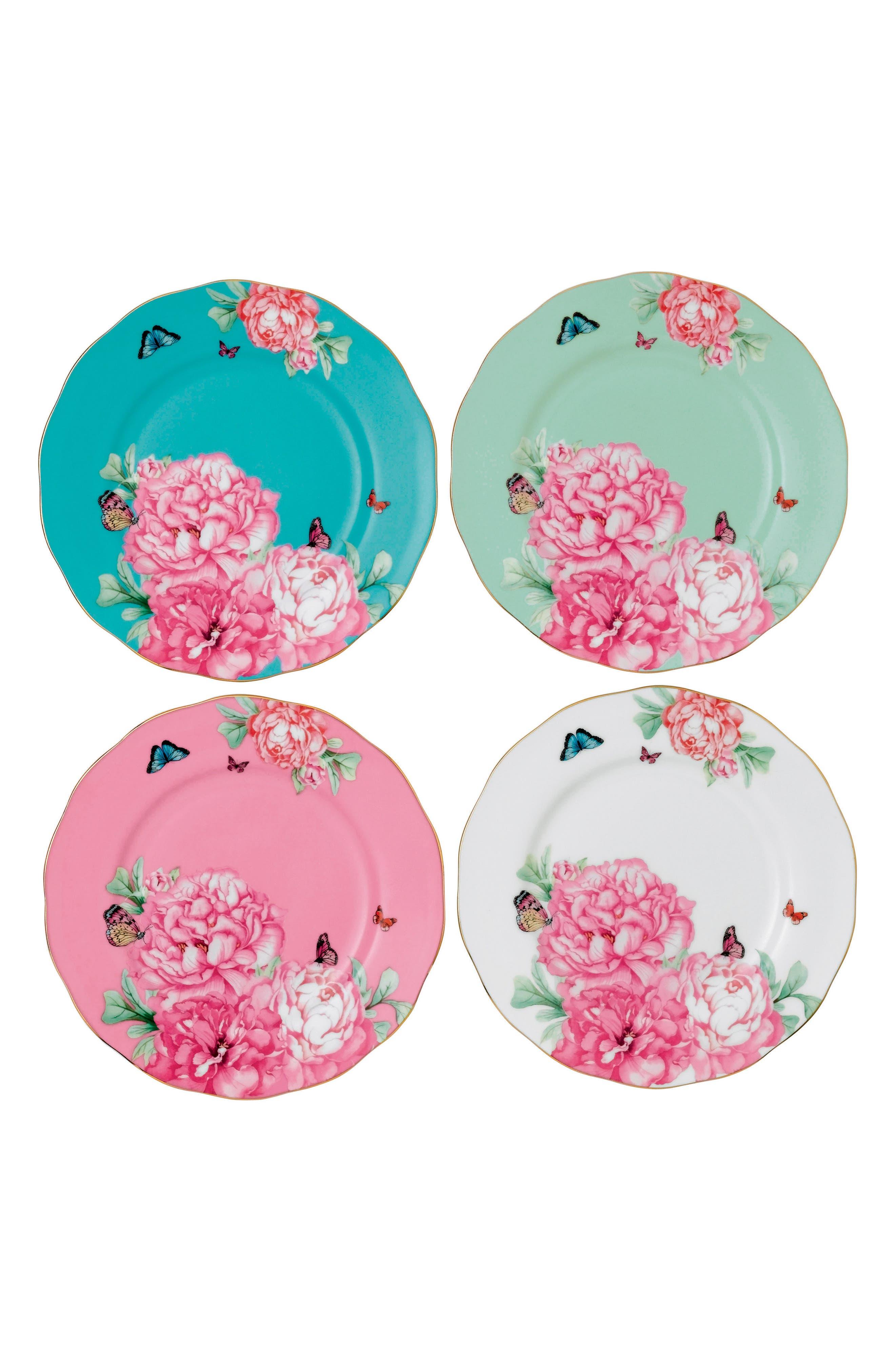 Friendship Set of 4 Accent Plates,                             Main thumbnail 1, color,                             Multi