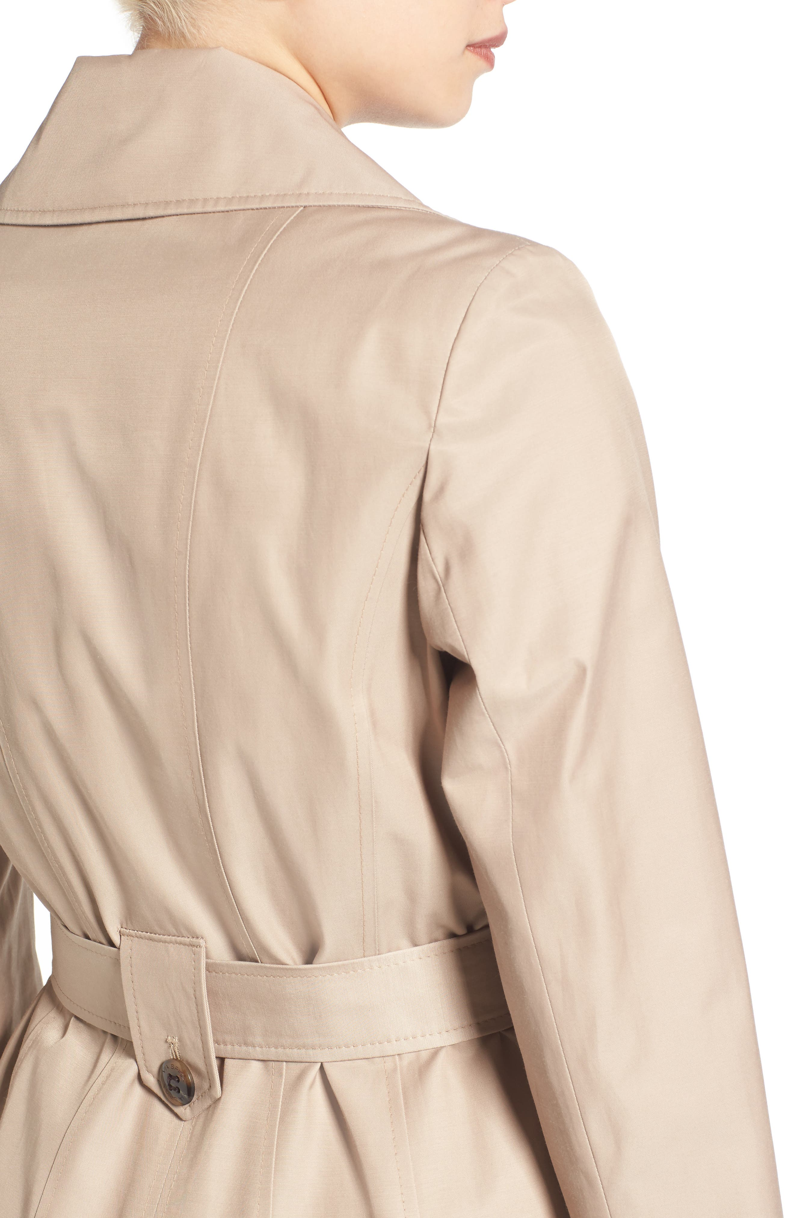 'Scarpa' Hooded Single Breasted Trench Coat,                             Alternate thumbnail 4, color,                             Sand