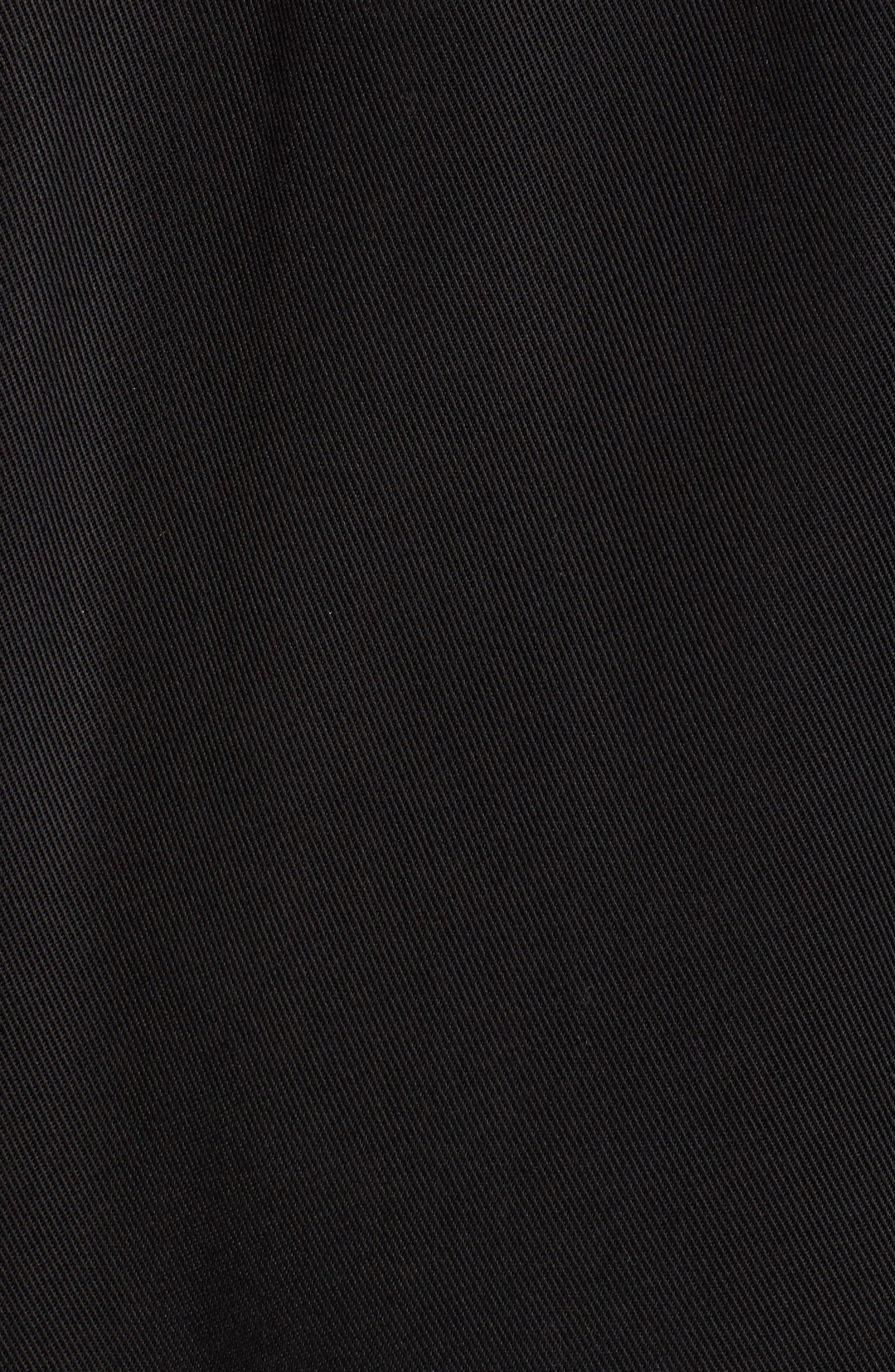 Tyler Hooded Trench Coat,                             Alternate thumbnail 5, color,                             Black