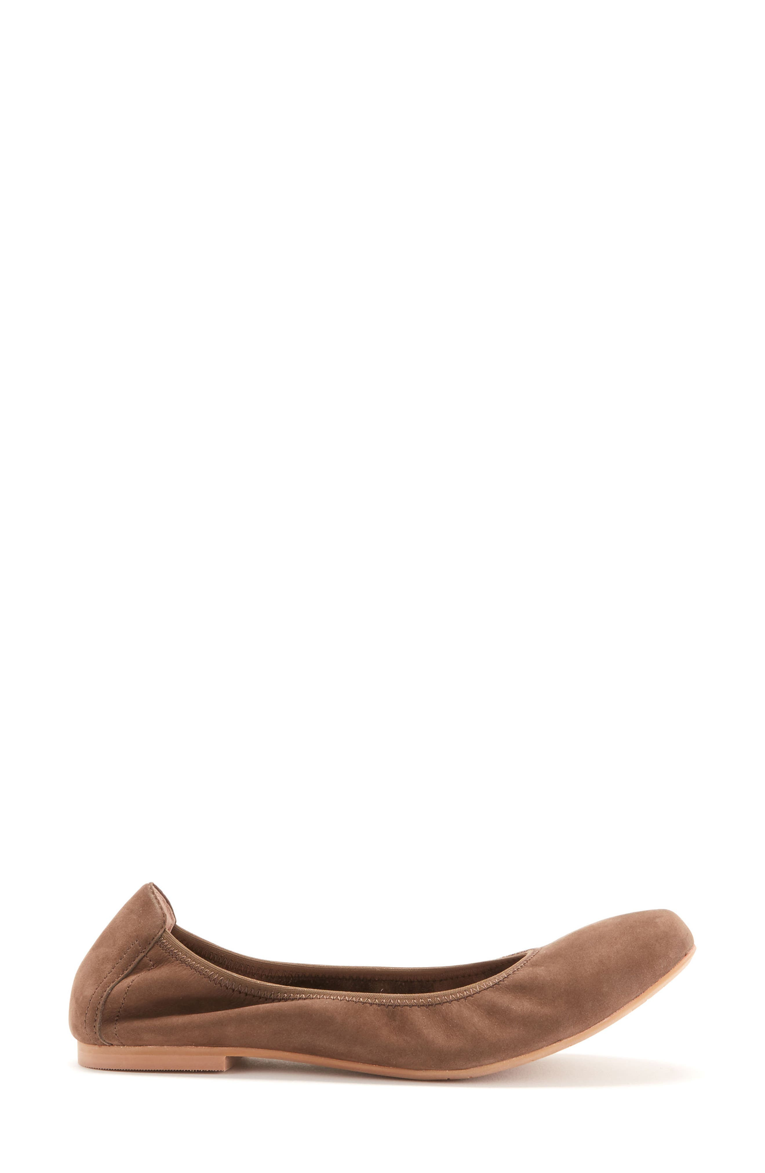Becca Waterproof Flat,                             Alternate thumbnail 3, color,                             Taupe Nubuck Leather