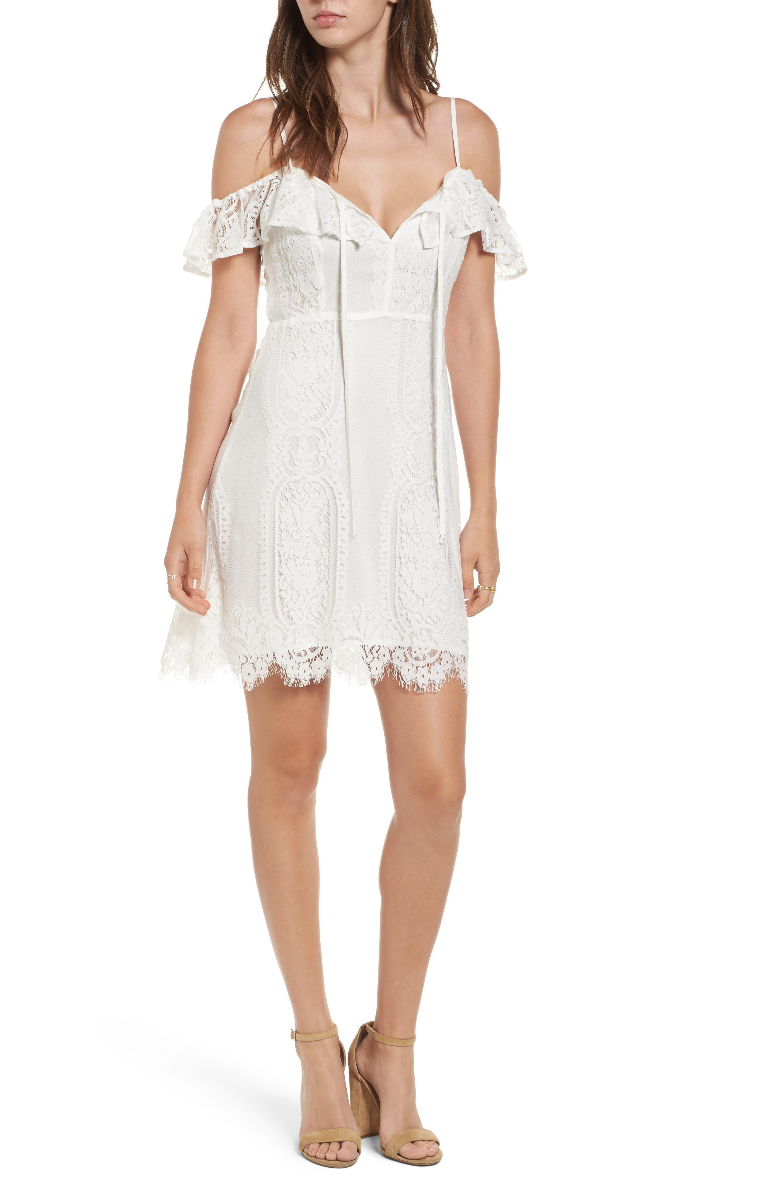 Lush Lace Cold Shoulder Dress