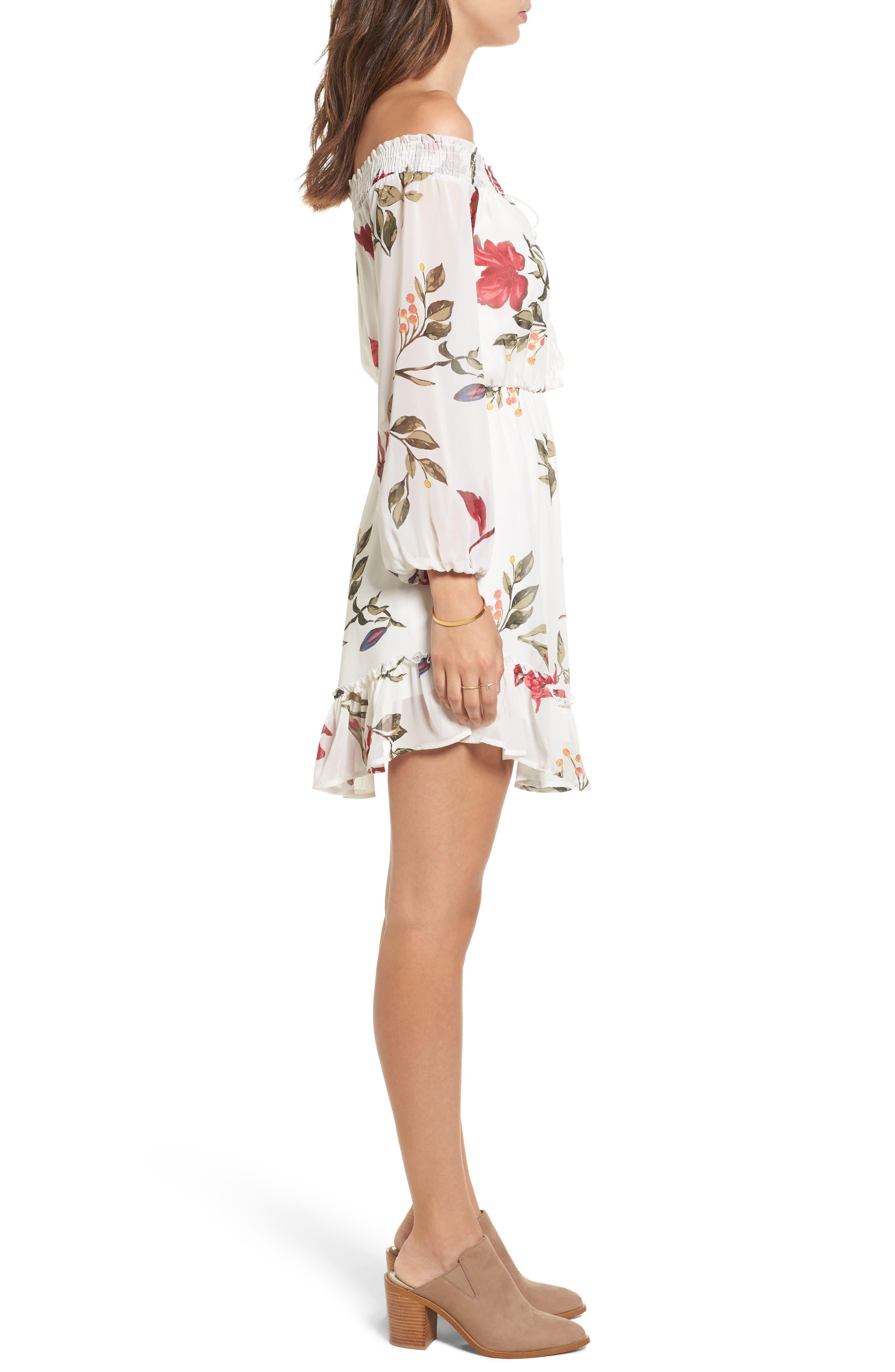Alternate Image 3  - Dee Elly Floral Off the Shoulder Dress