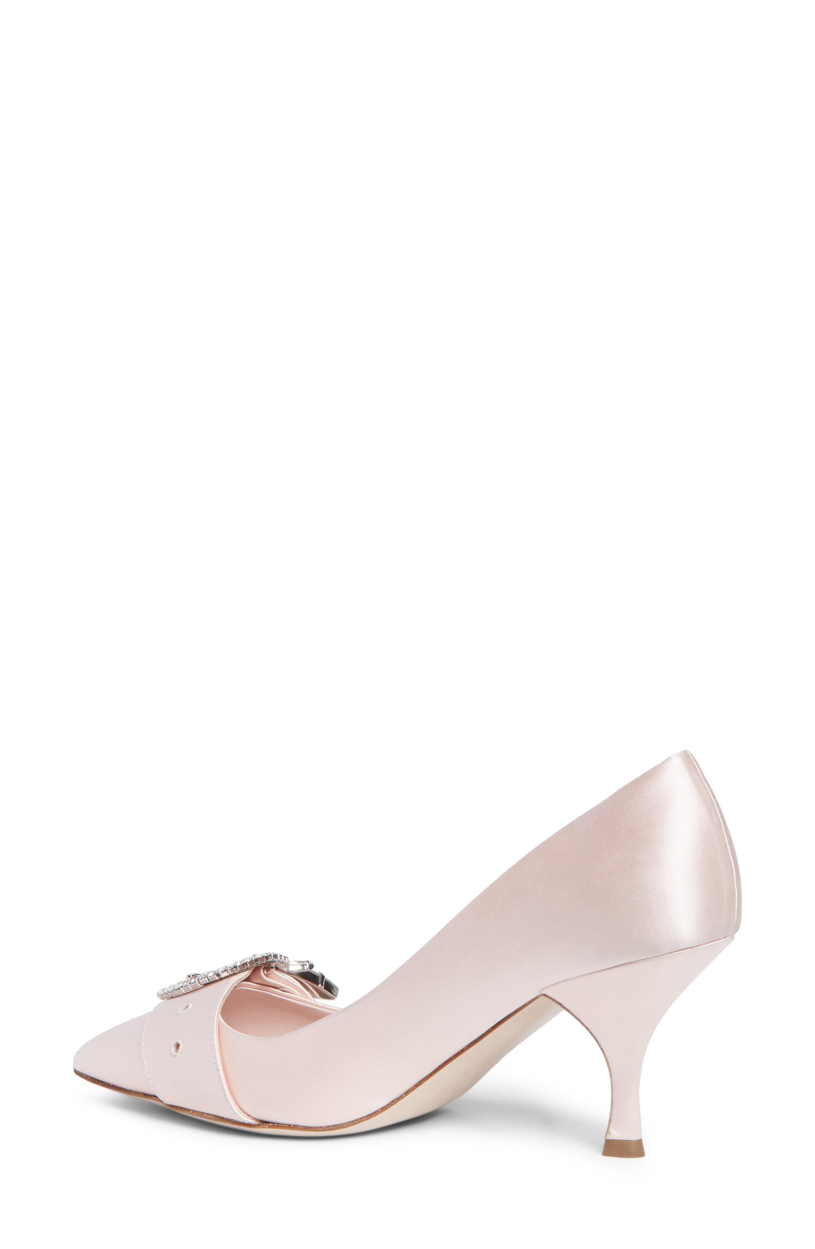 Crystal Buckle Pump,                             Alternate thumbnail 2, color,                             Pink Satin