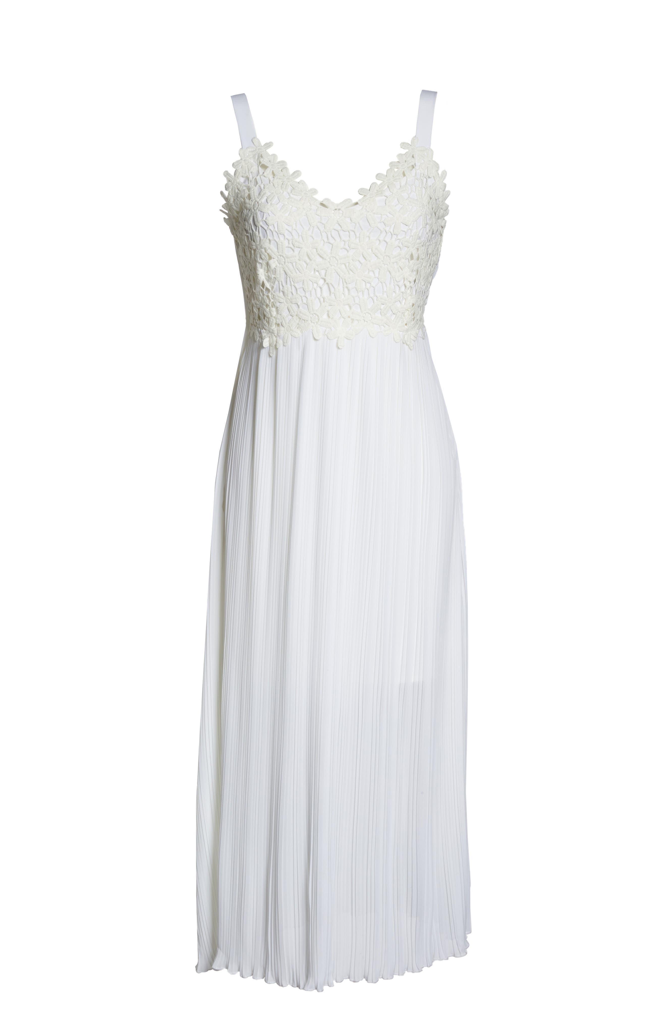 Alternate Image 6  - French Coonection Posy Lace Midi Dress