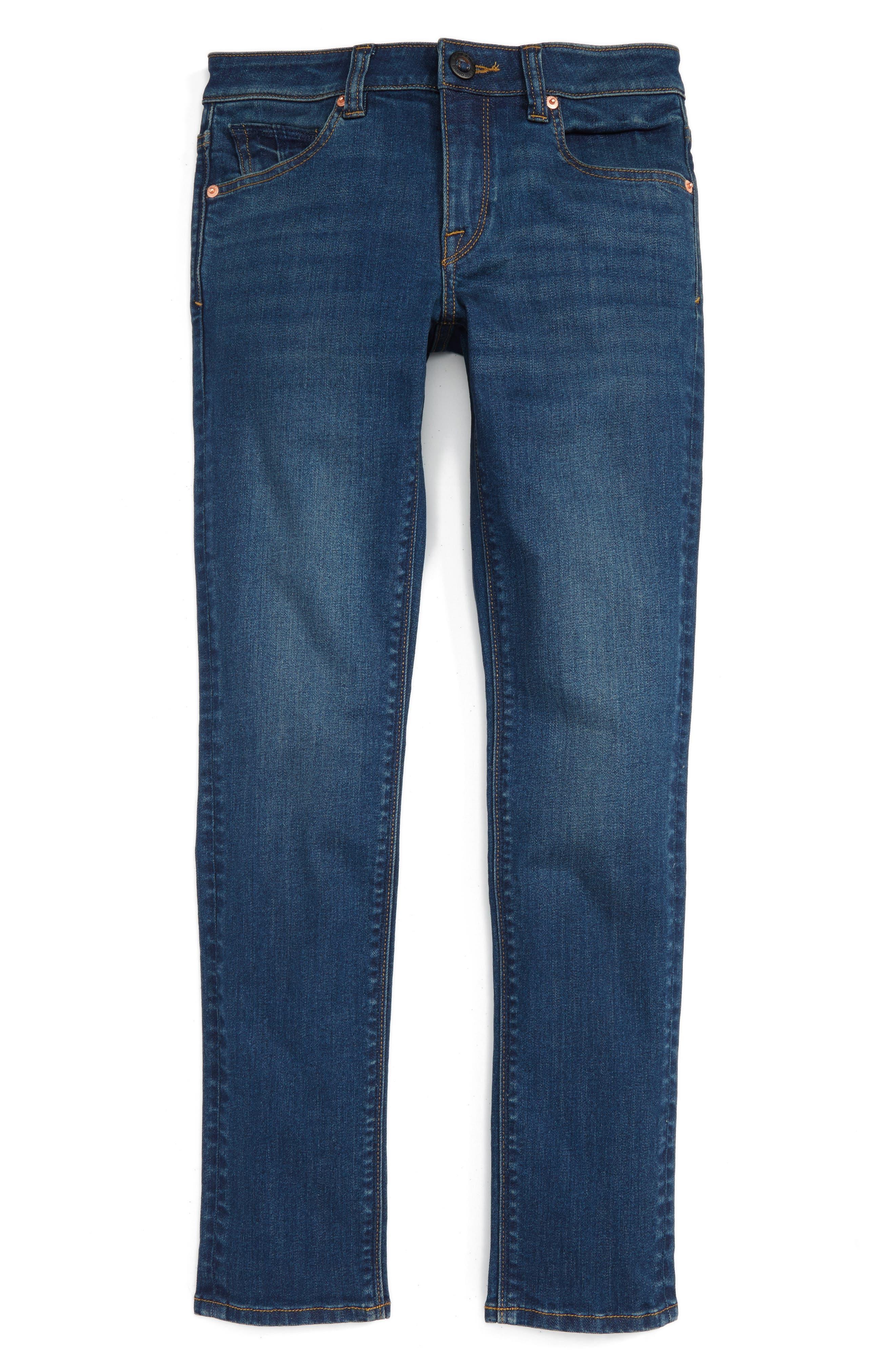Volcom 'Solver' Straight Leg Denim Jeans (Toddler Boys, Little Boys & Big Boys)