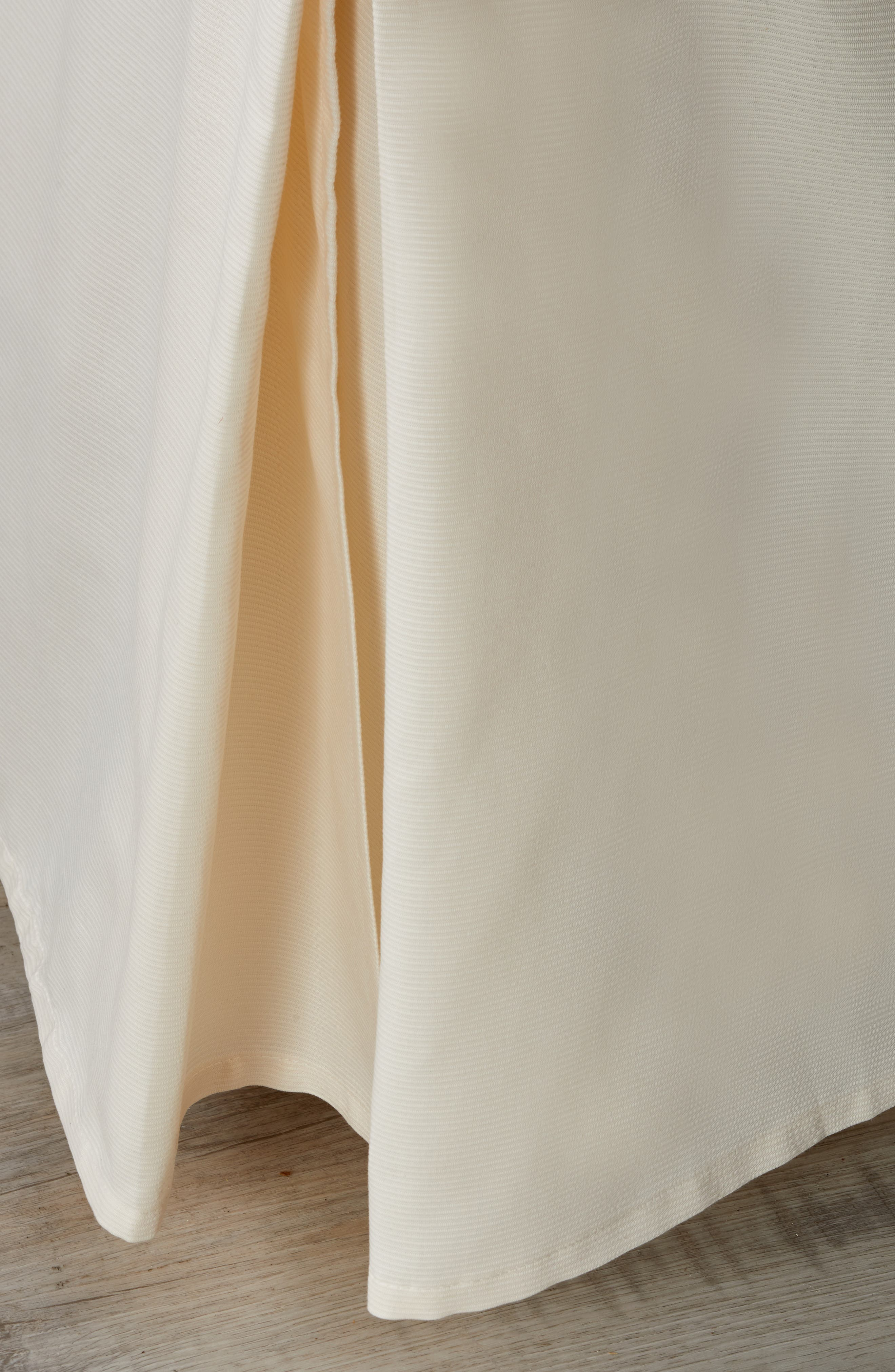 Woven Rib Bed Skirt,                         Main,                         color, Ivory
