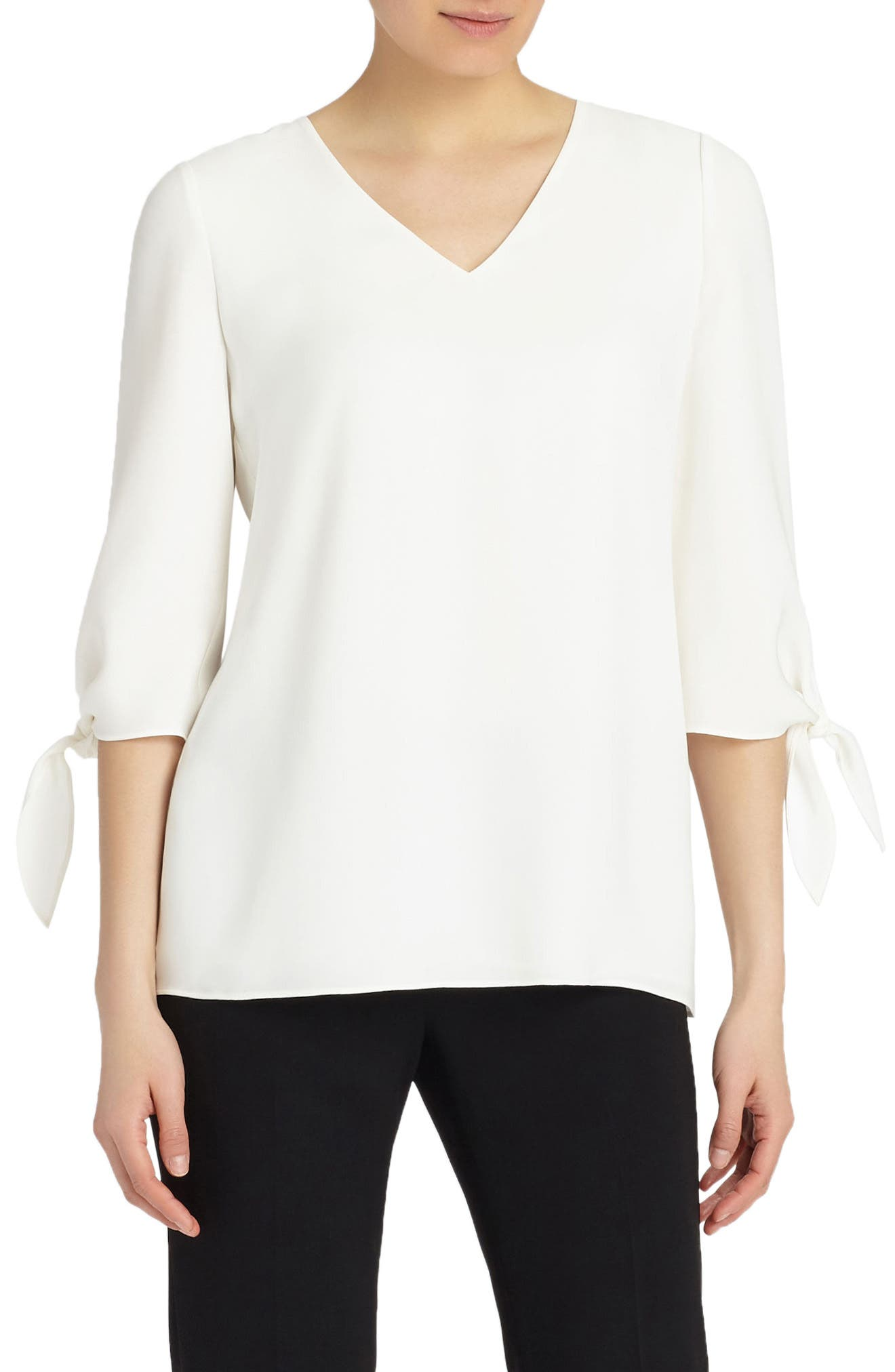 Lafayette 148 New York Kenna Double Silk Georgette Blouse