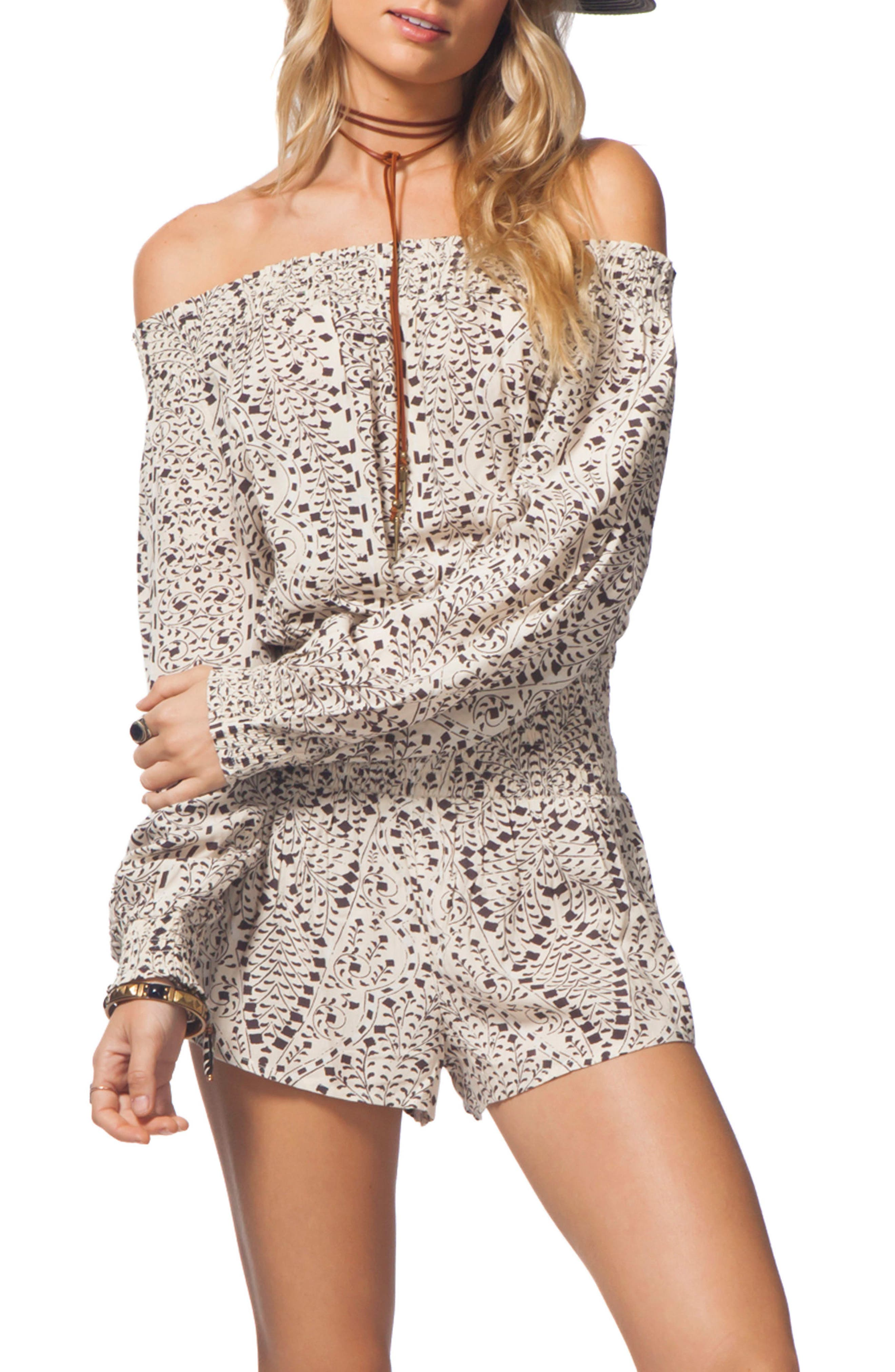 Main Image - Rip Curl Sun Shadow Off the Shoulder Romper