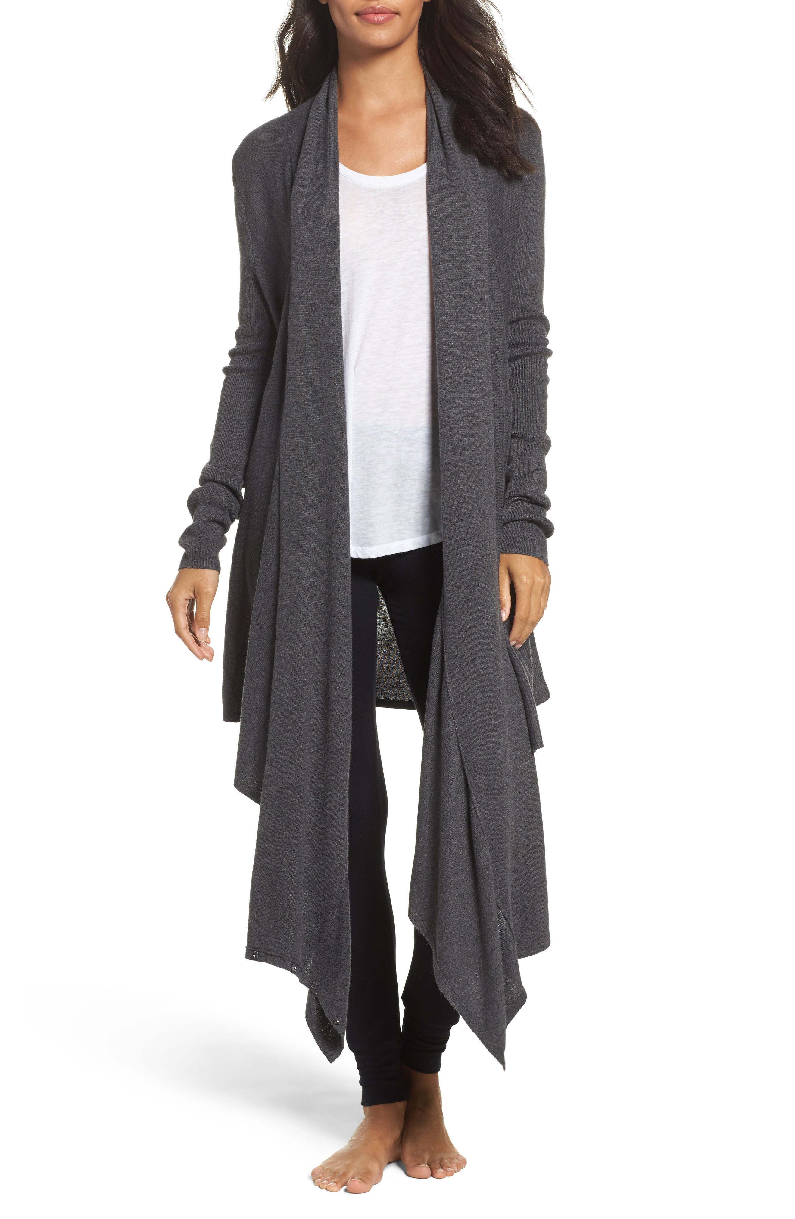 Alternate Image 3  - Nordstrom Lingerie Long Wrap Cardigan