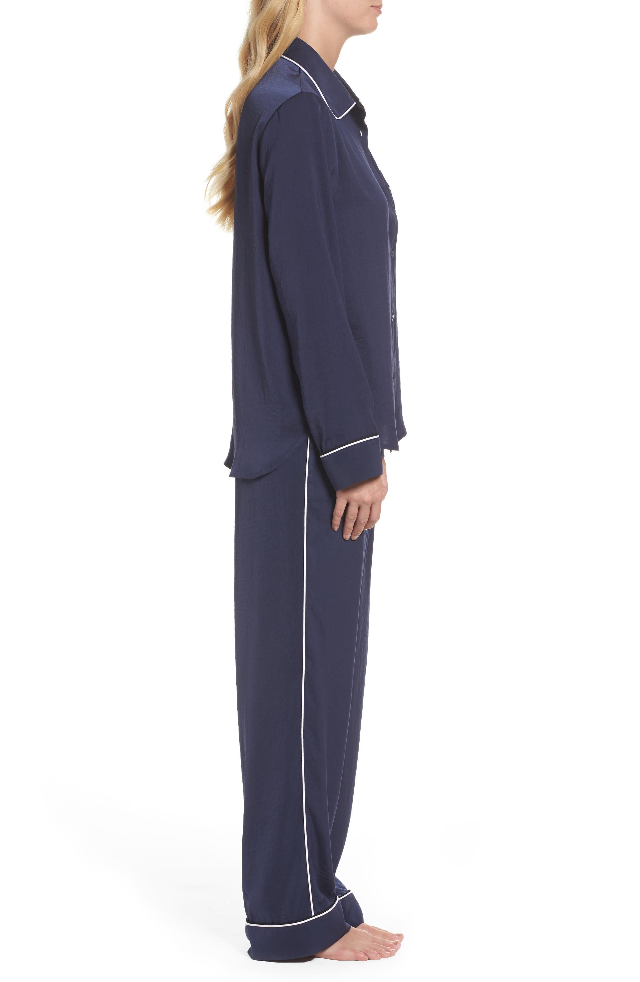 Long Pajamas,                             Alternate thumbnail 3, color,                             Ink