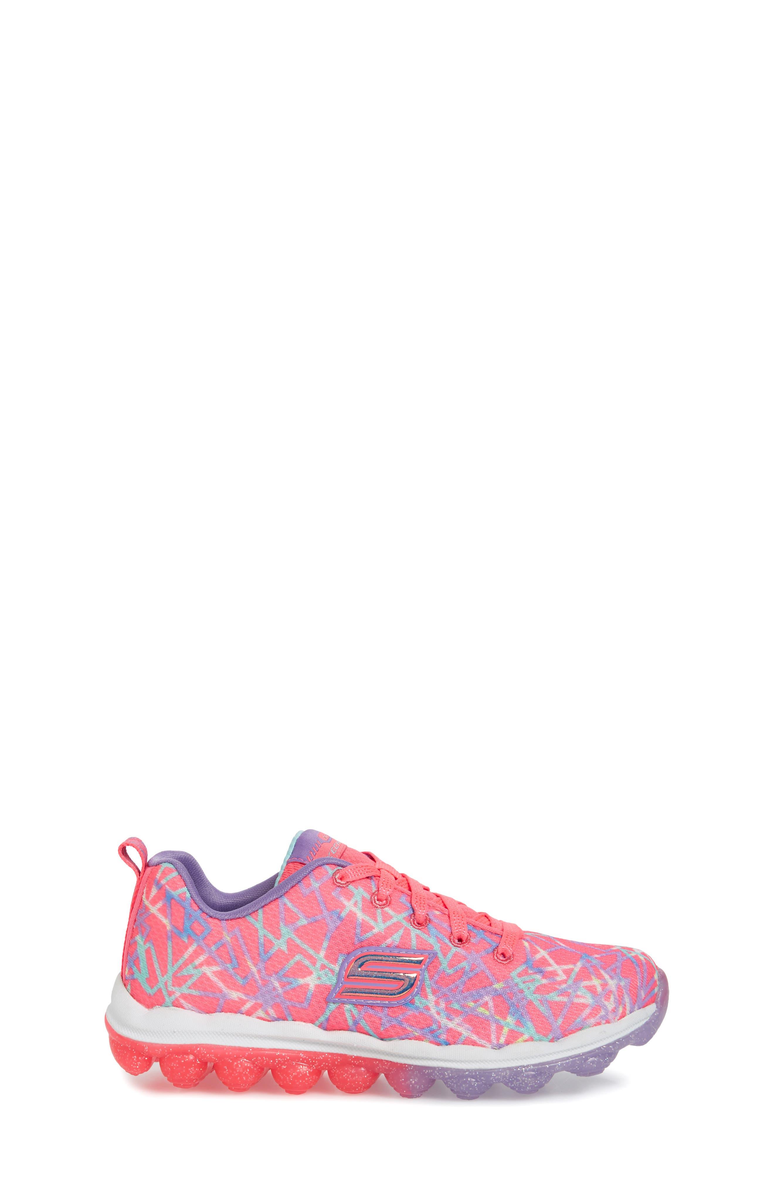 Skech-Air Sneaker,                             Alternate thumbnail 3, color,                             Pink