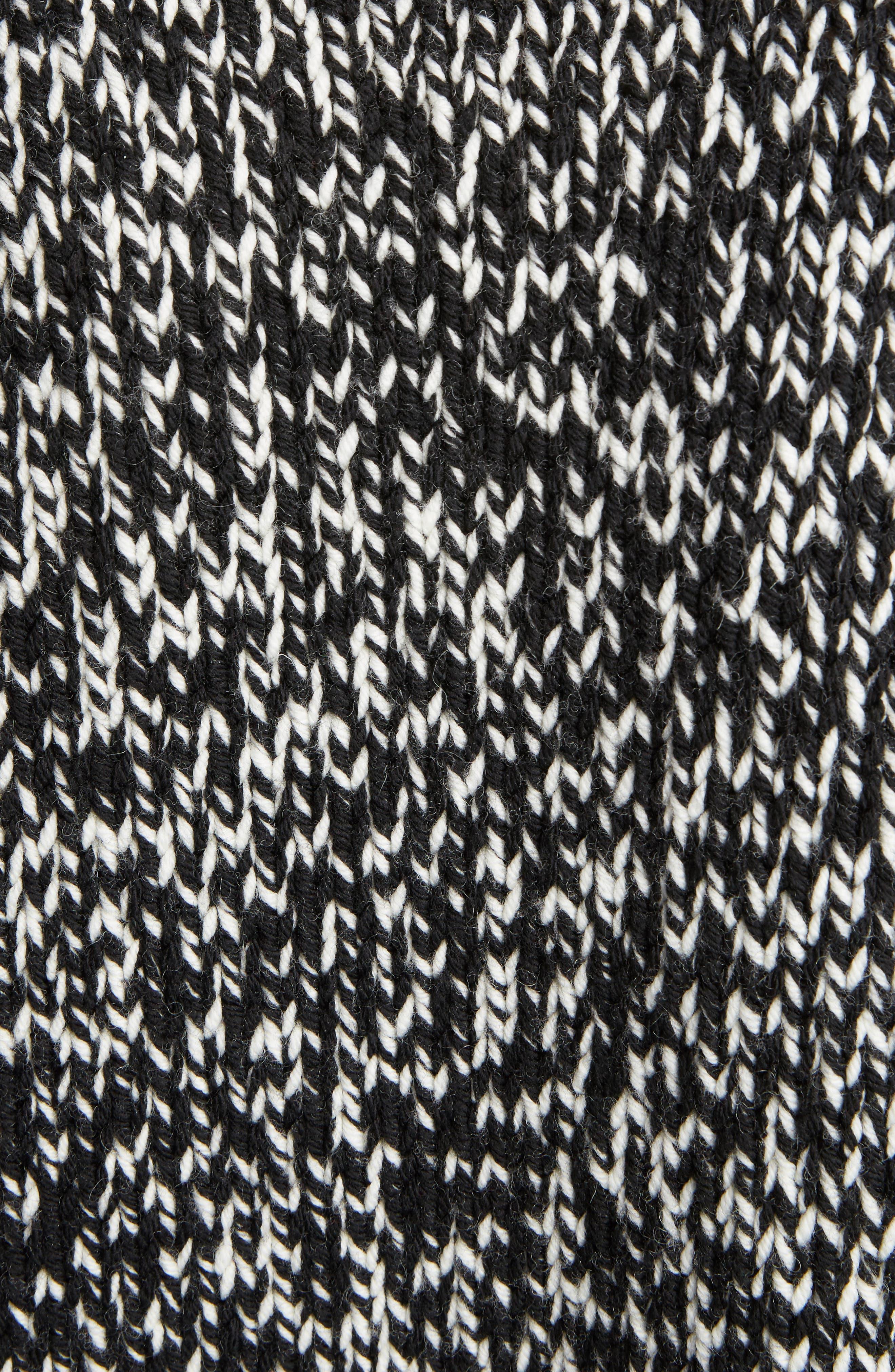 Alternate Image 5  - Saint Laurent Mélange Knit Wool Turtleneck Sweater