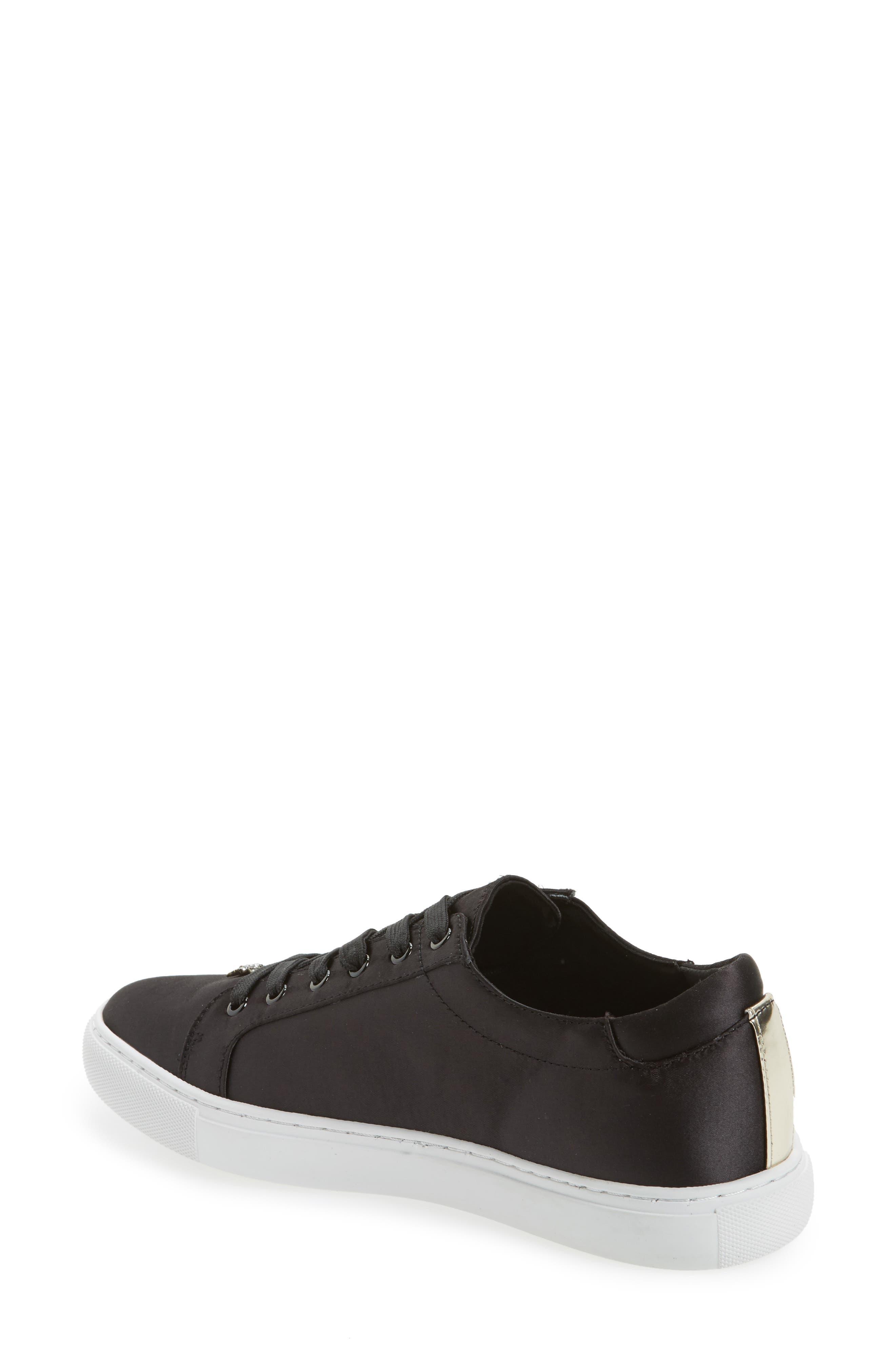 'Kam' Sneaker,                             Alternate thumbnail 2, color,                             Black Satin