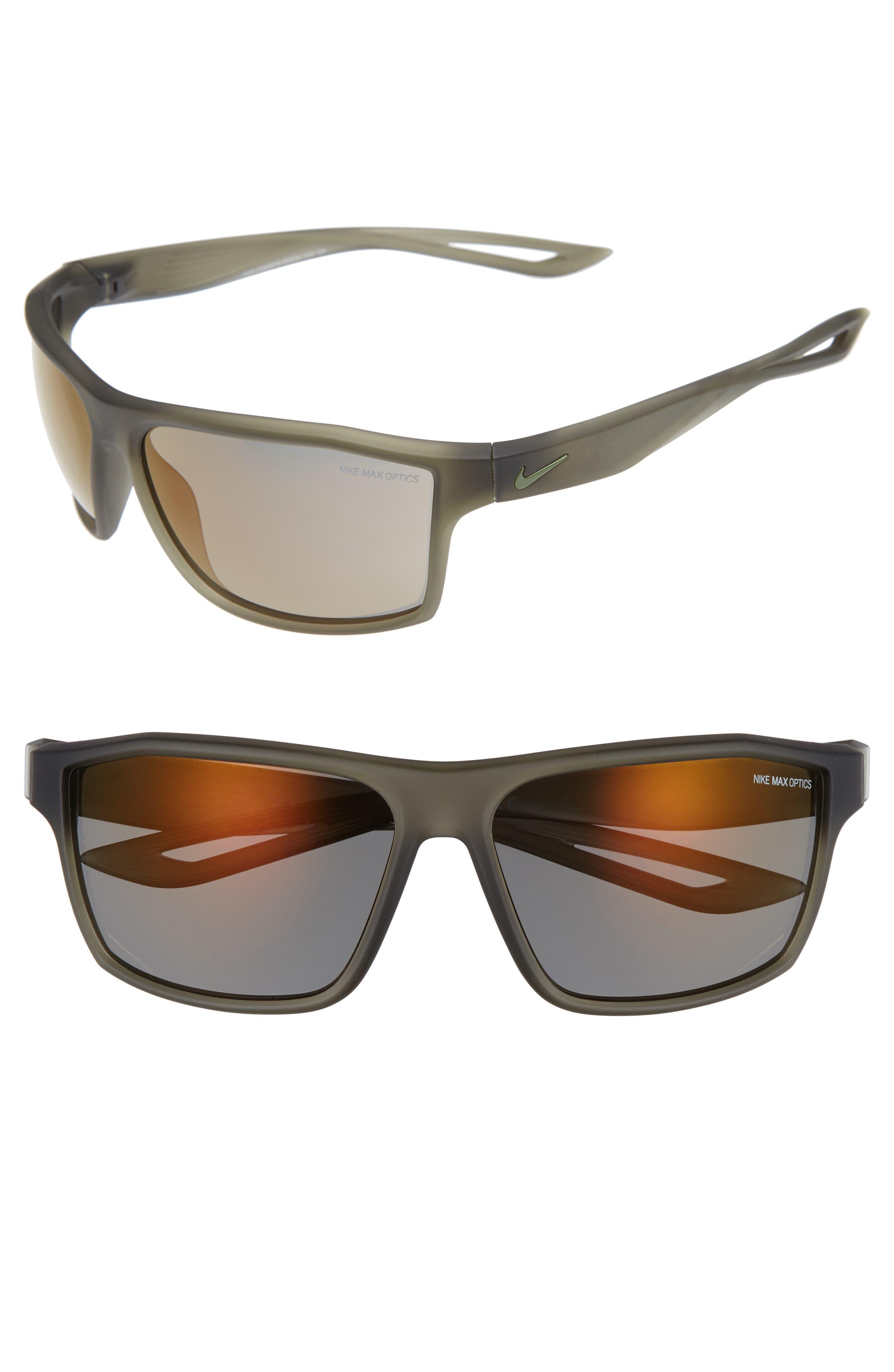 Legend 65mm Mirrored Multi-Sport Sunglasses,                         Main,                         color, Matte Cargo Khaki