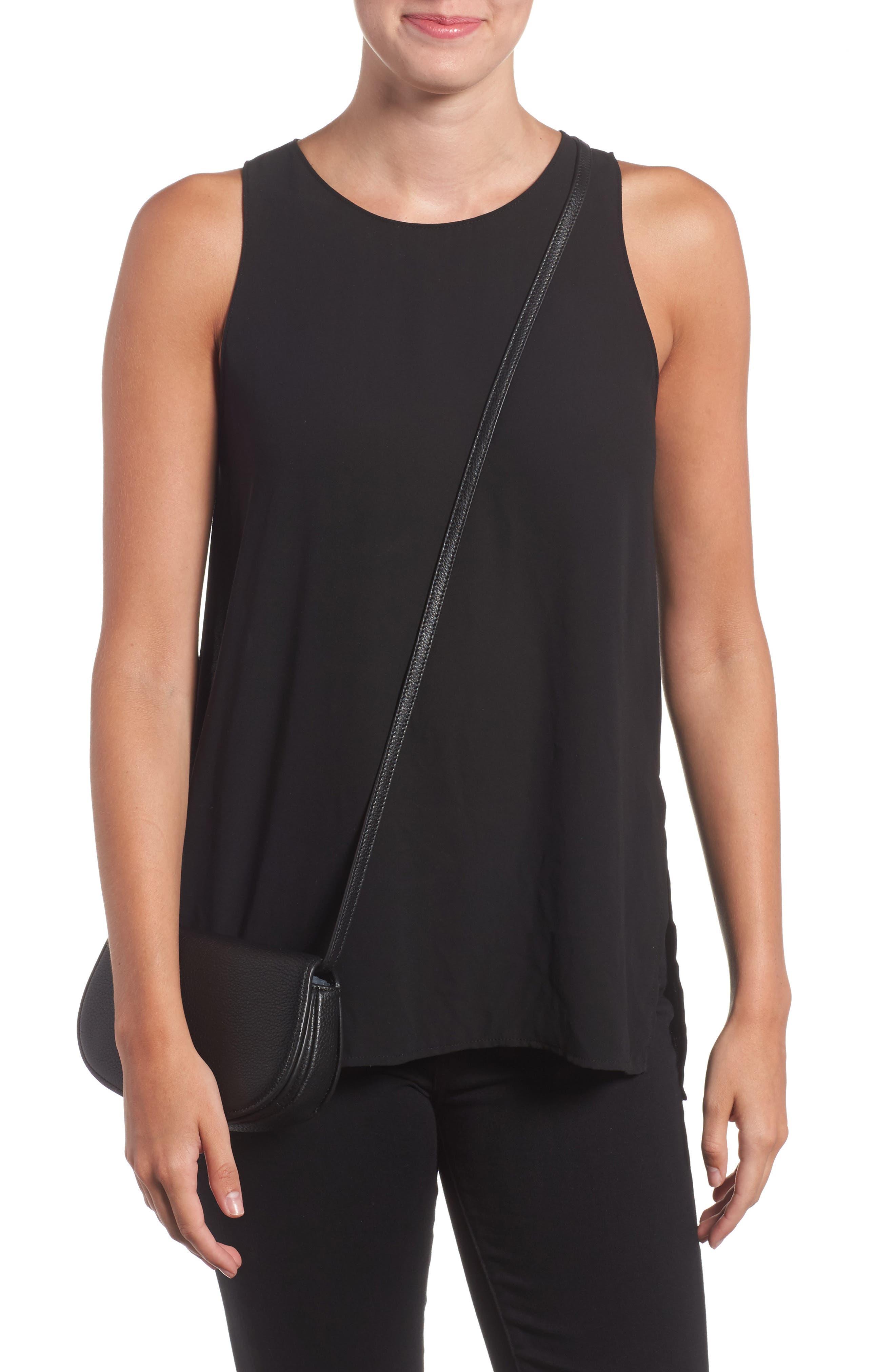 Mini Jamie Leather Crossbody Bag,                             Alternate thumbnail 2, color,                             Black
