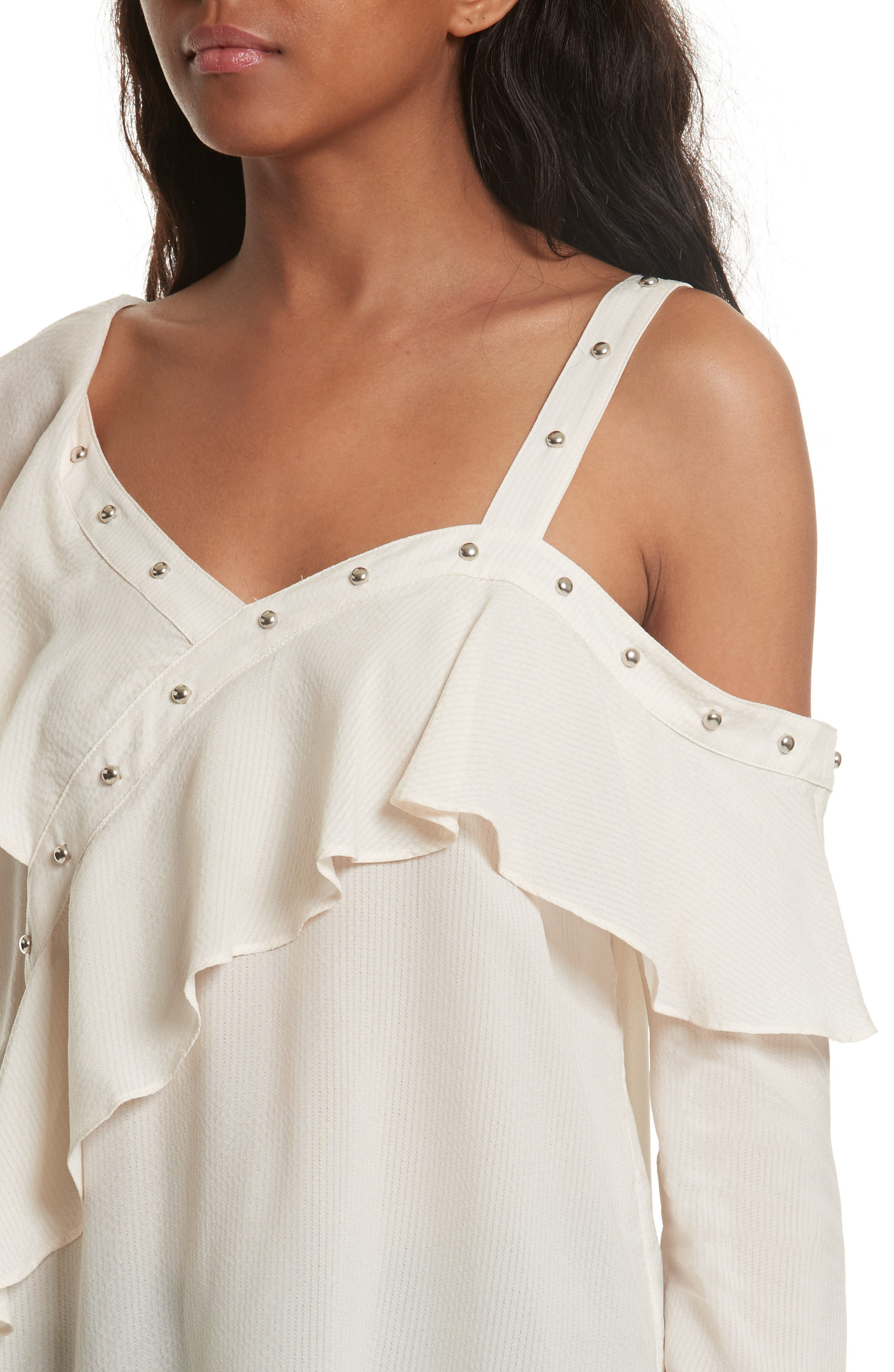 Clementine Off the Shoulder Top,                             Alternate thumbnail 5, color,                             White