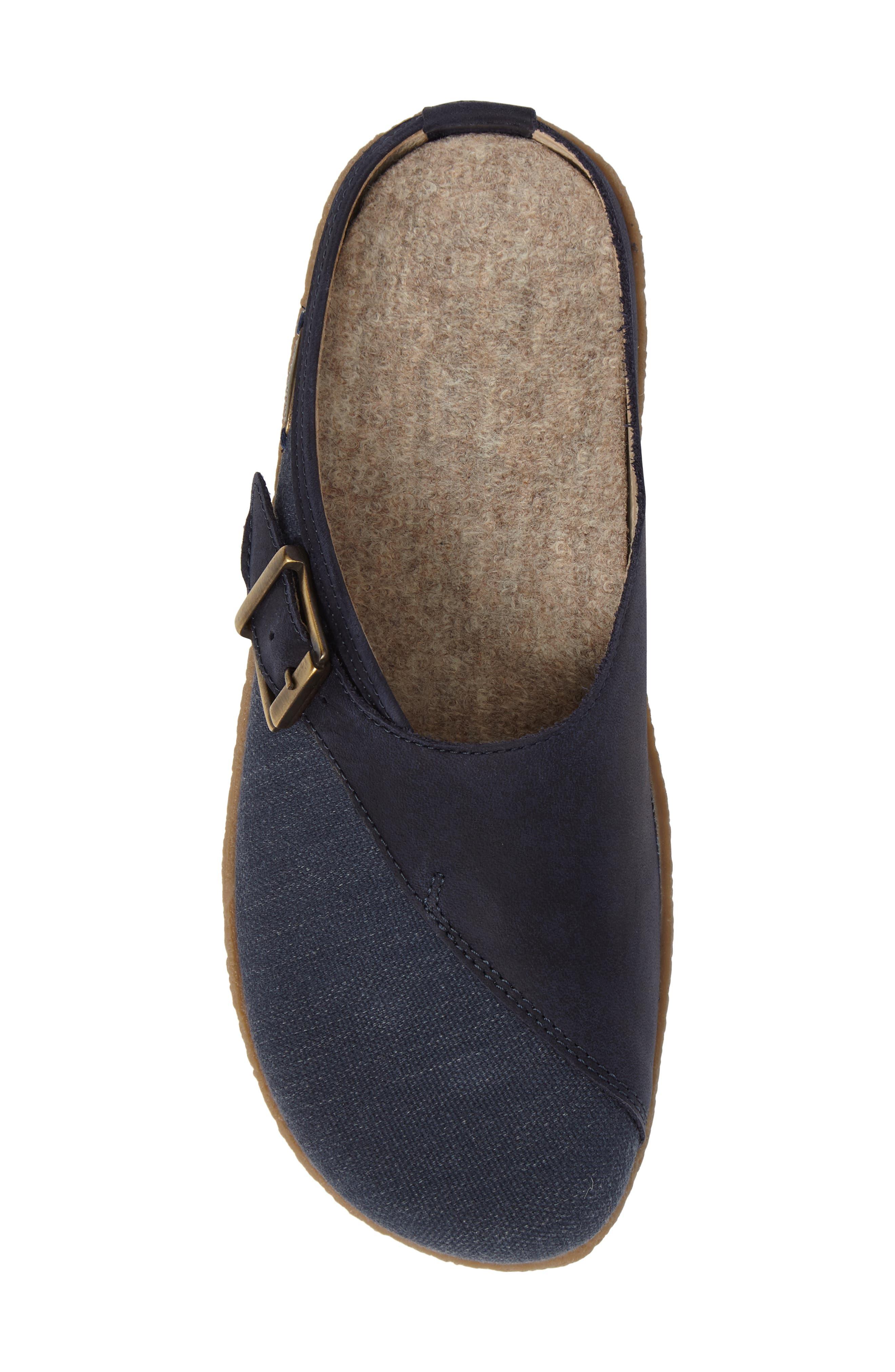 Radler Slipper Mule,                             Alternate thumbnail 5, color,                             Jeans Leather