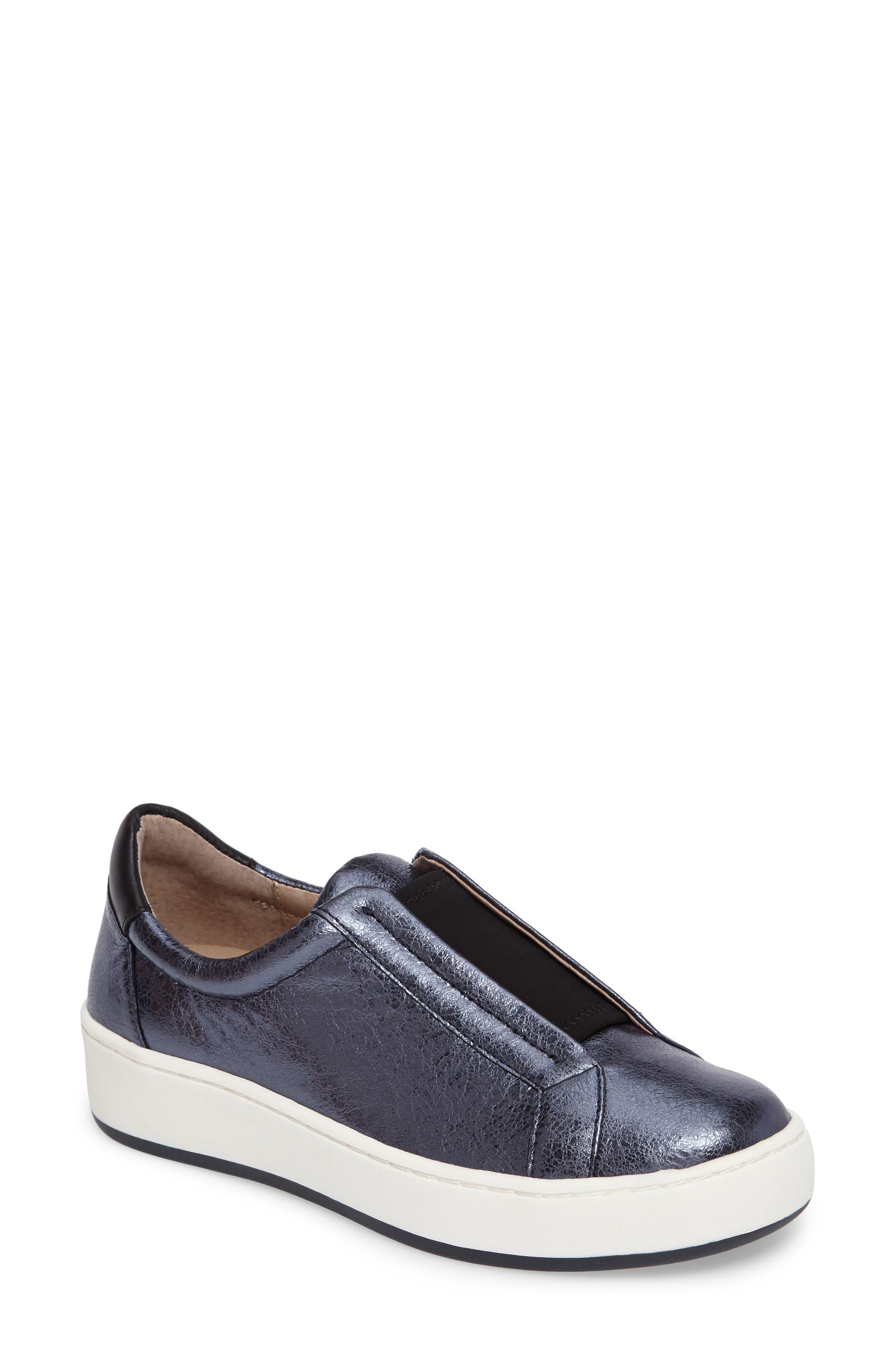 Donald J Pliner Charley Metallic Slip-On Sneaker (Women)
