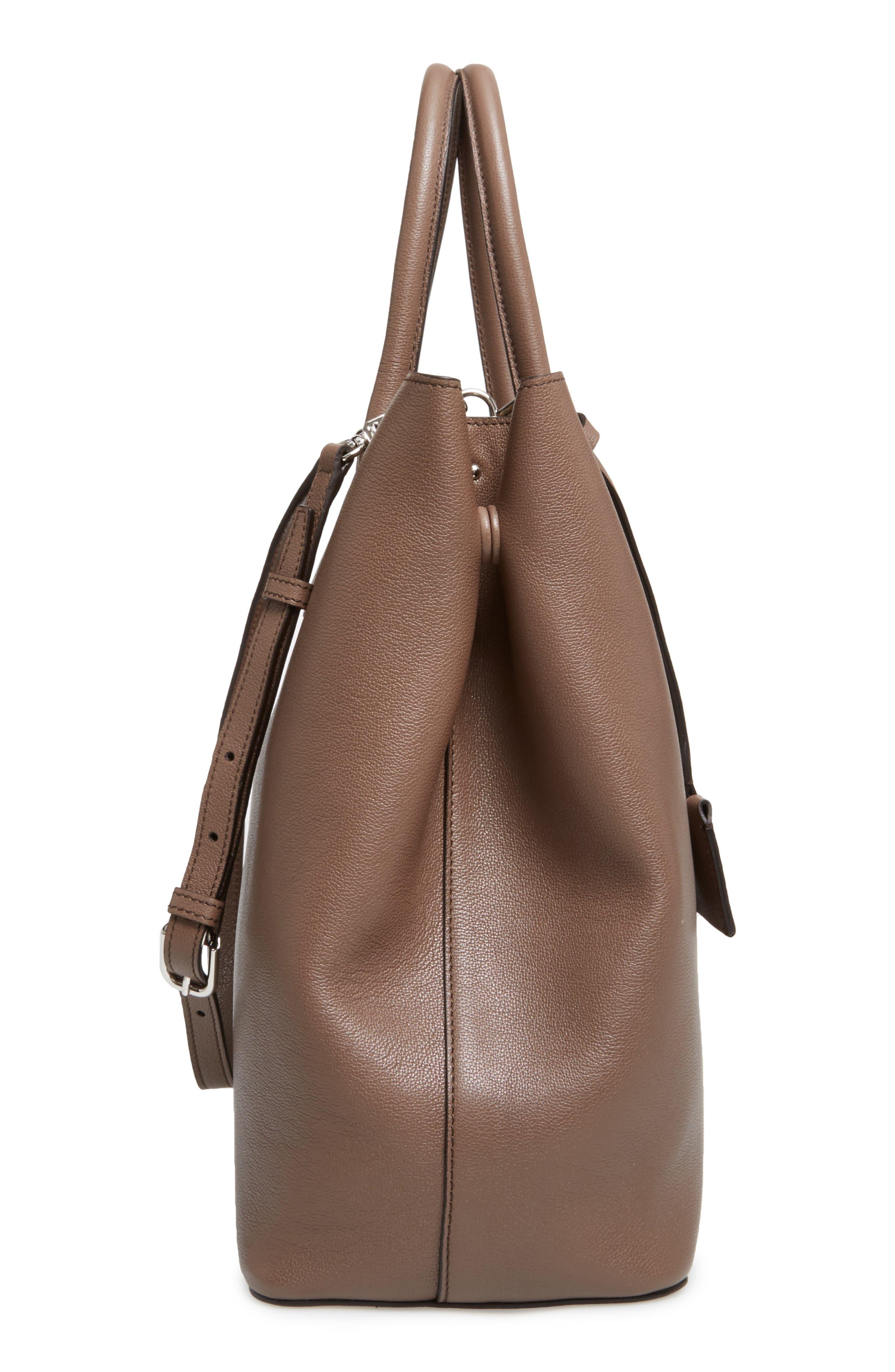 Alternate Image 4  - Max Mara Pebbled Leather Shopper