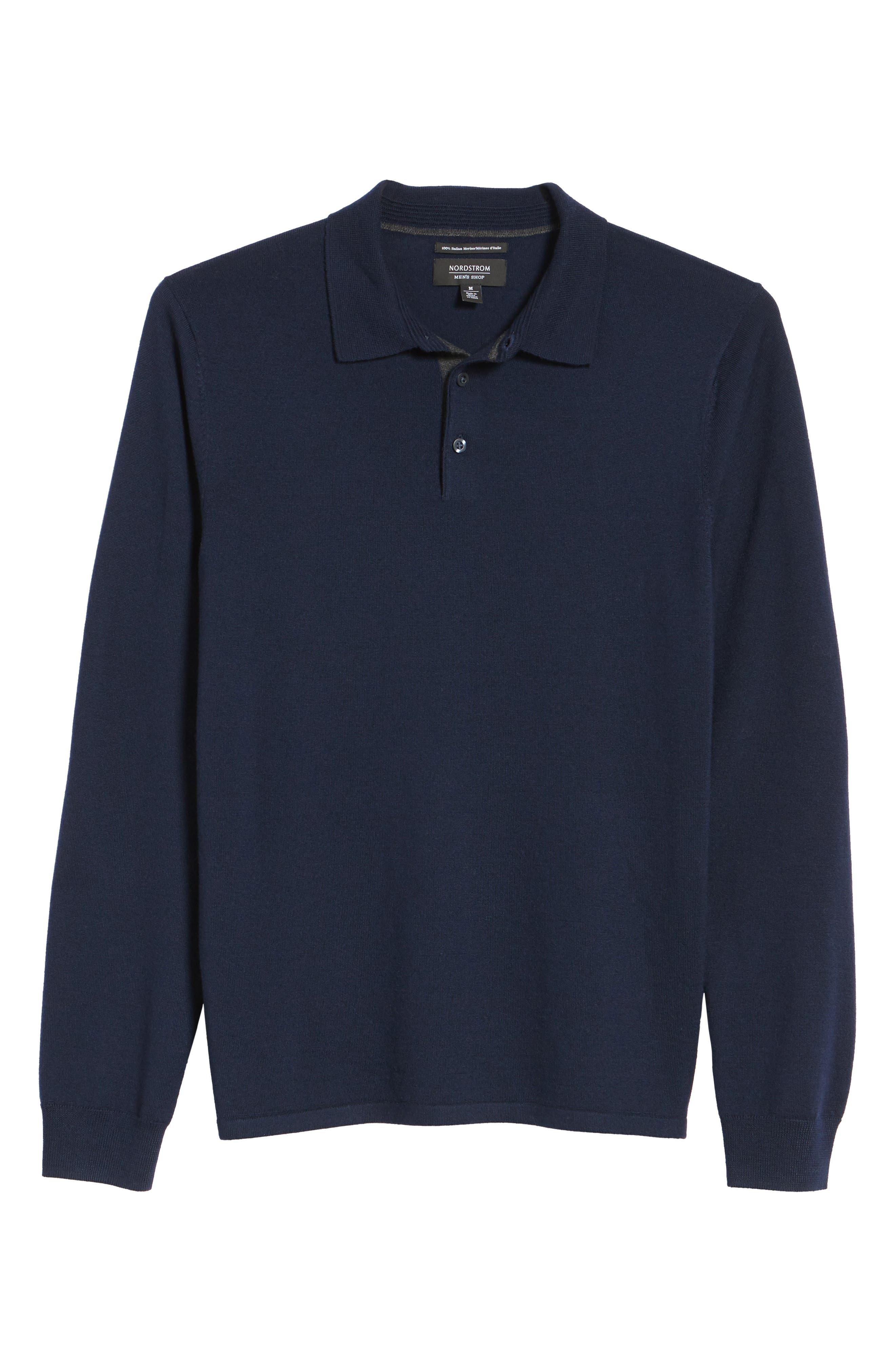 Alternate Image 6  - Nordstrom Men's Shop Merino Wool Polo Sweater