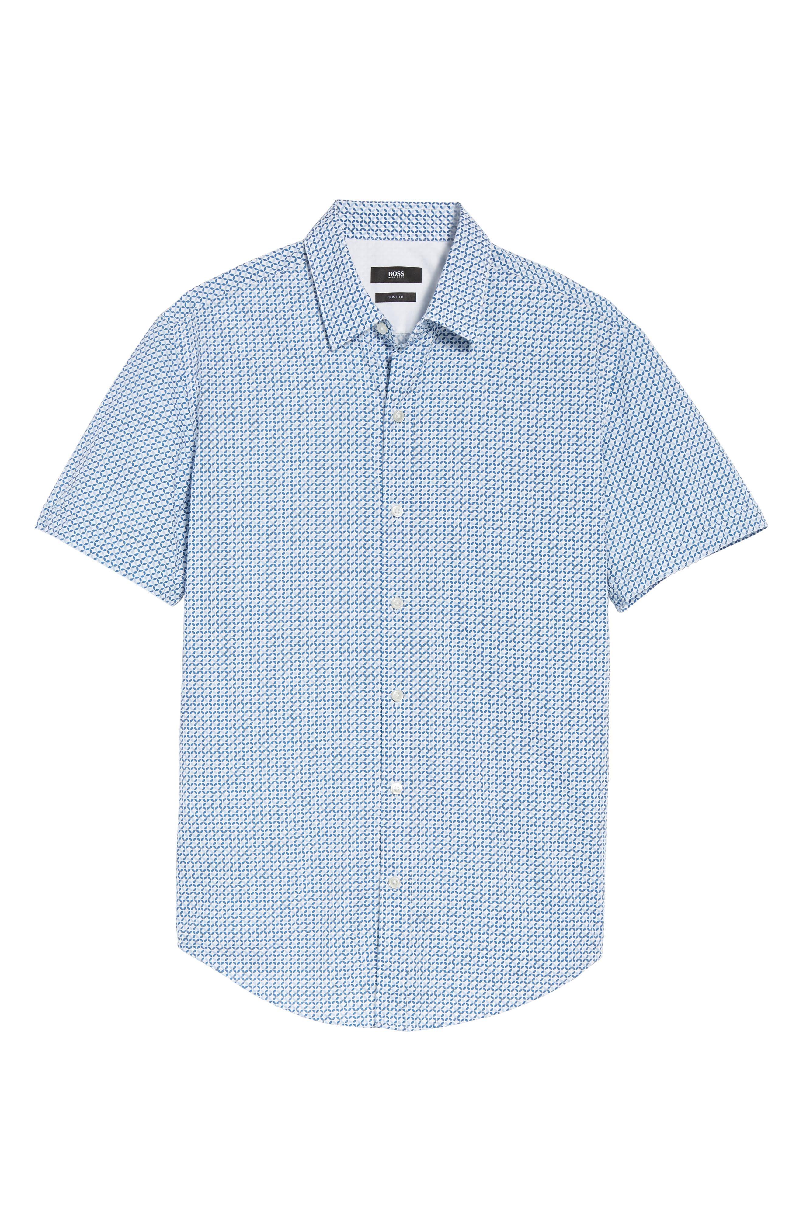 Alternate Image 5  - BOSS Robbie Trim Fit Print Sport Shirt