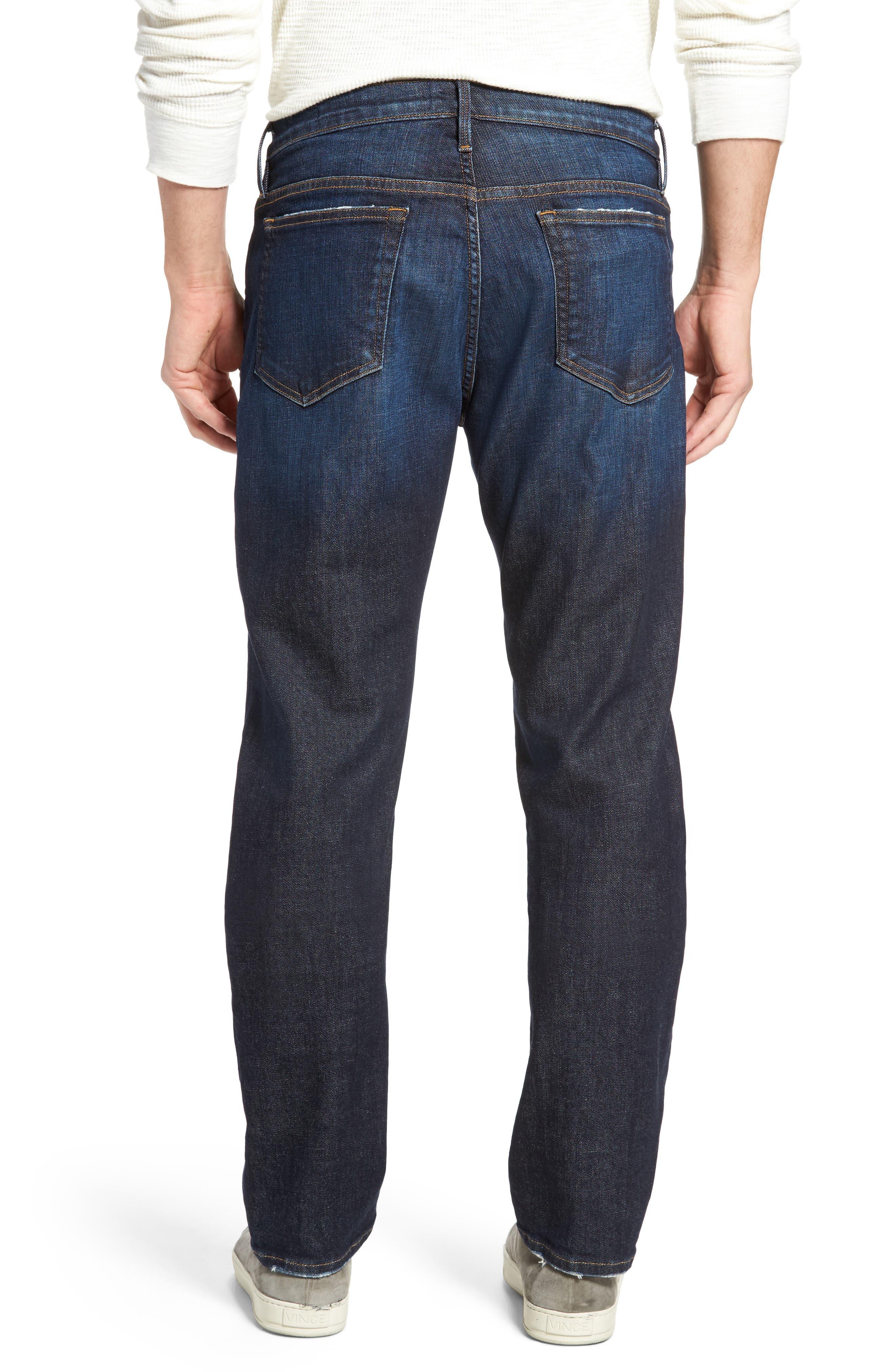 Alternate Image 2  - FRAME L'Homme Slim Straight Leg Jeans (Alamo)